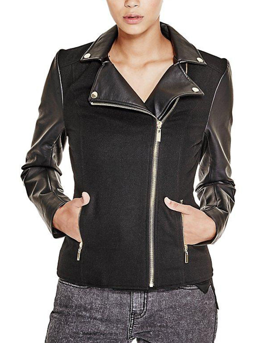 G by Guess Silver Bomber & Moto Jackets