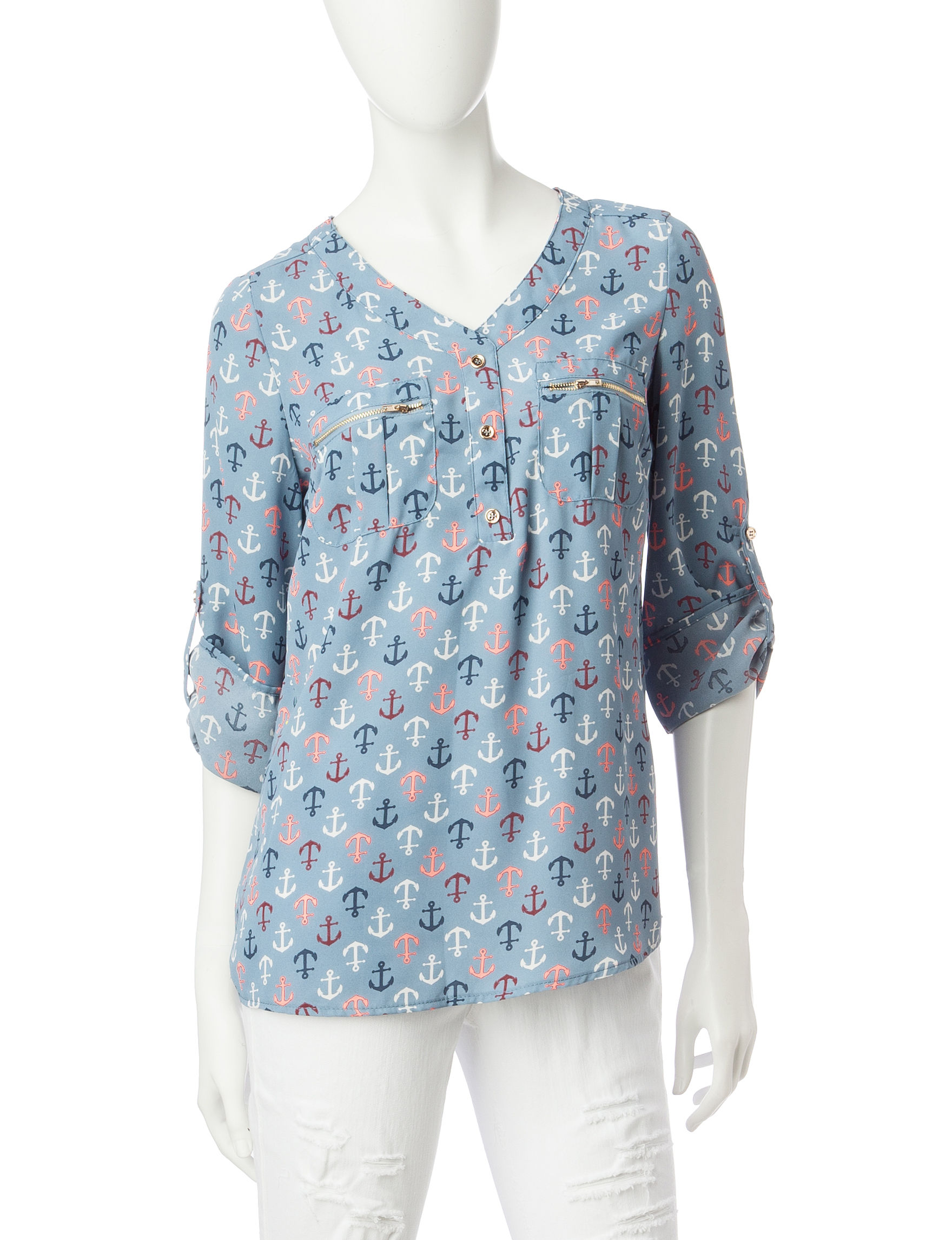 Wishful Park Blue Shirts & Blouses
