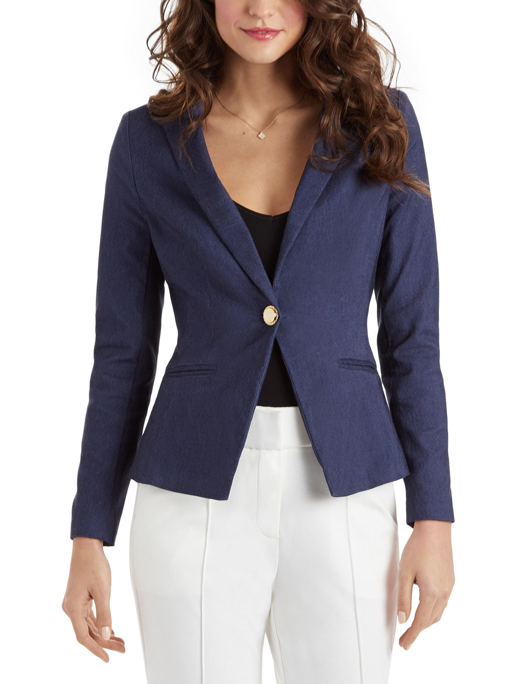 XOXO Medium Blue Lightweight Jackets & Blazers