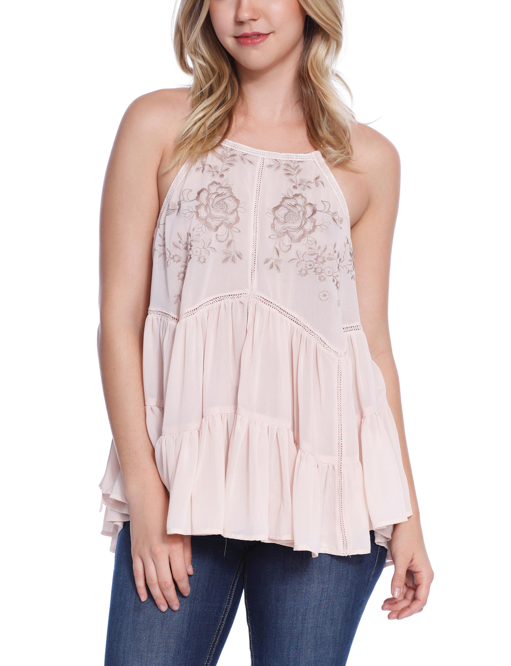 C + J Collections Pink Shirts & Blouses Tees & Tanks