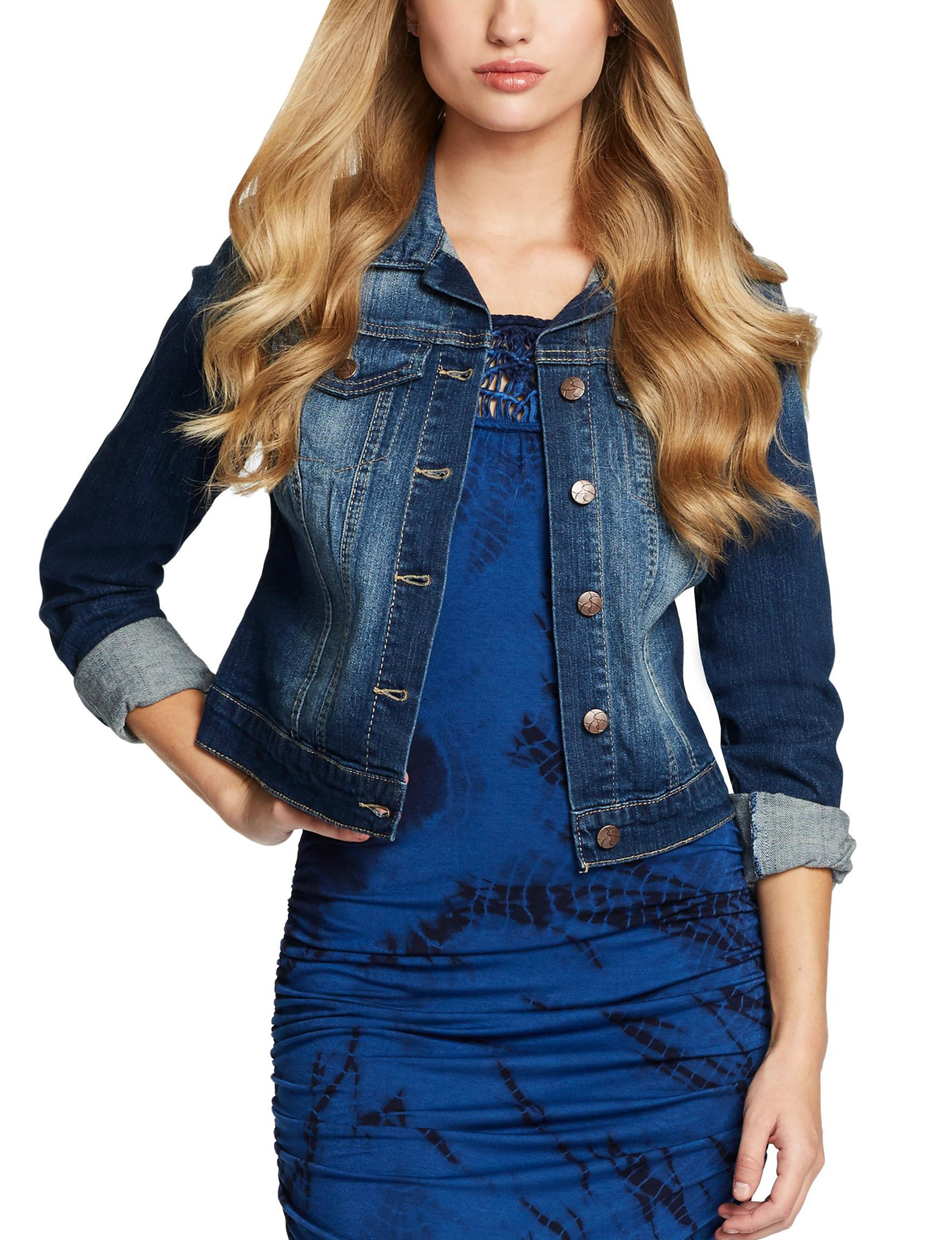 Jessica Simpson Blue Lightweight Jackets & Blazers