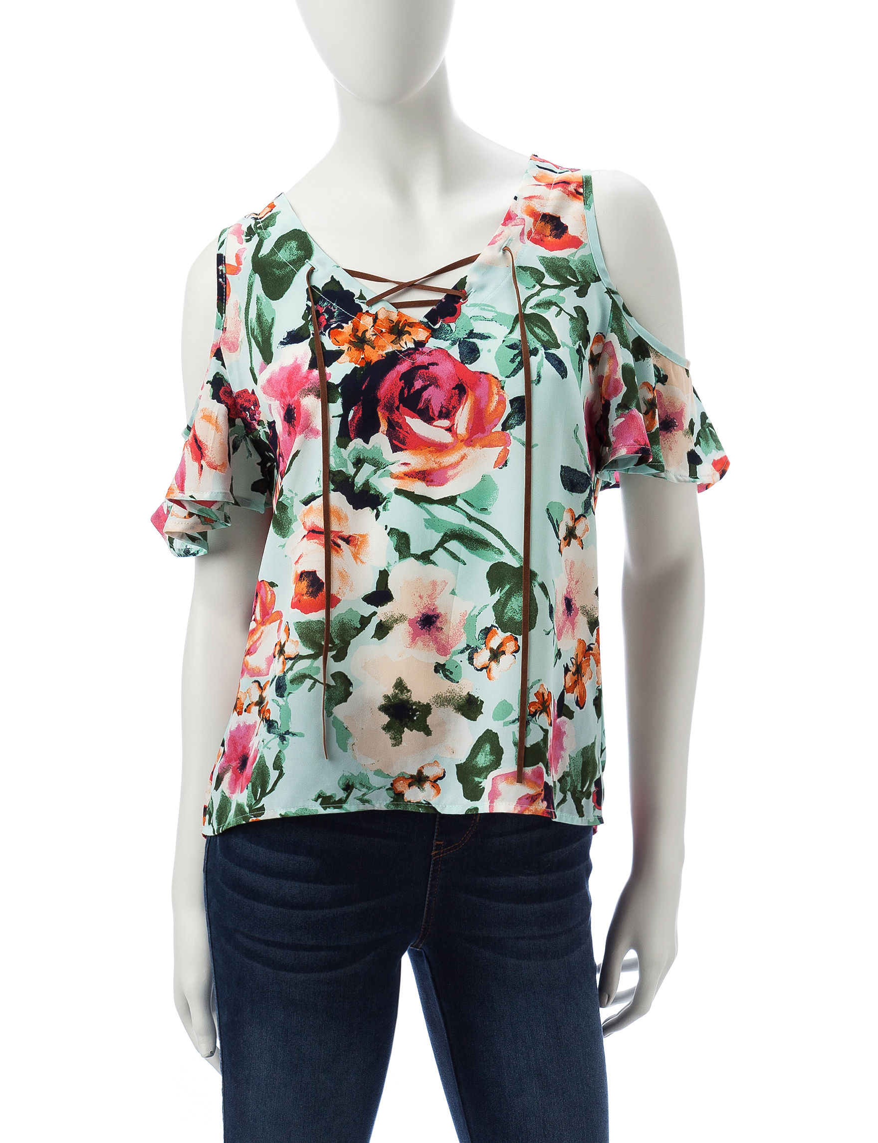 Wishful Park Mint Shirts & Blouses