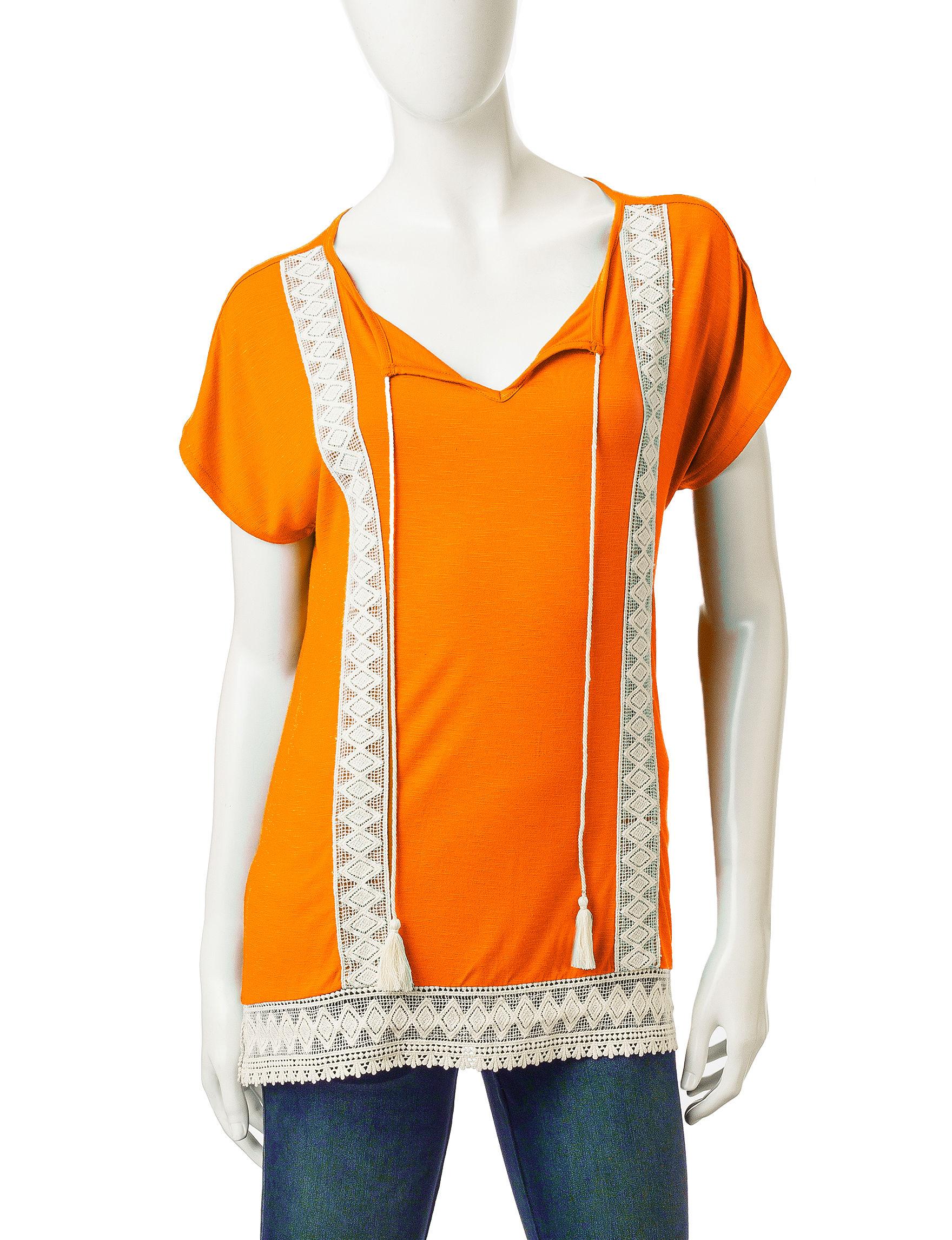 Signature Studio Orange Shirts & Blouses
