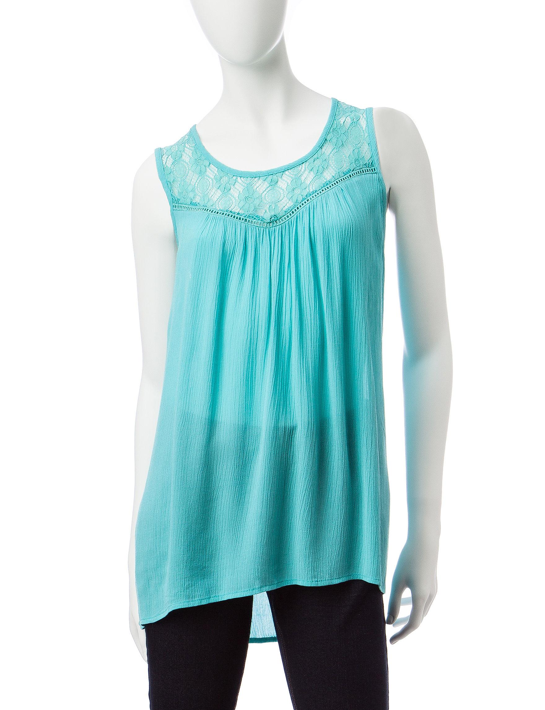 Signature Studio Turquoise Shirts & Blouses