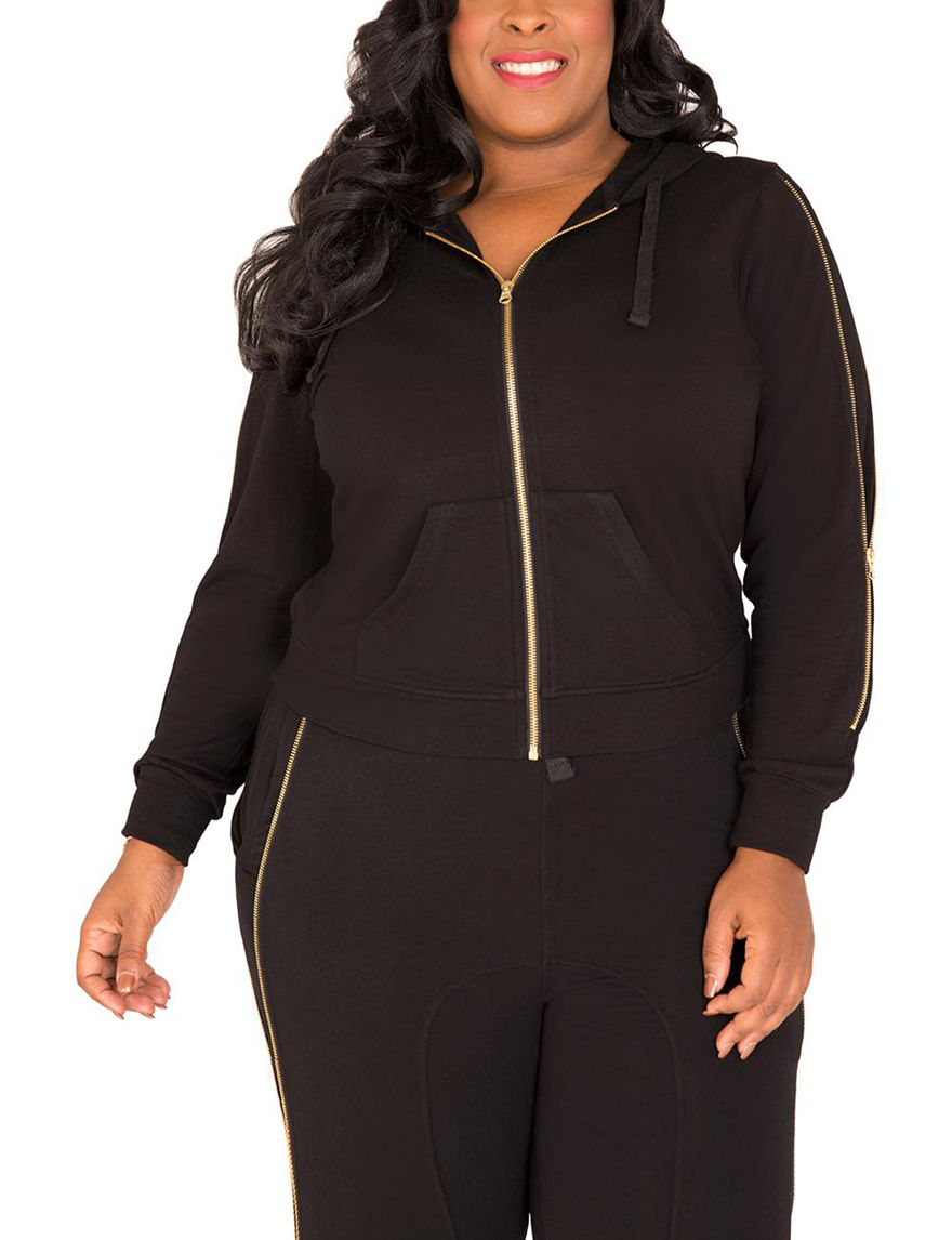 Poetic  Justice Black Lightweight Jackets & Blazers