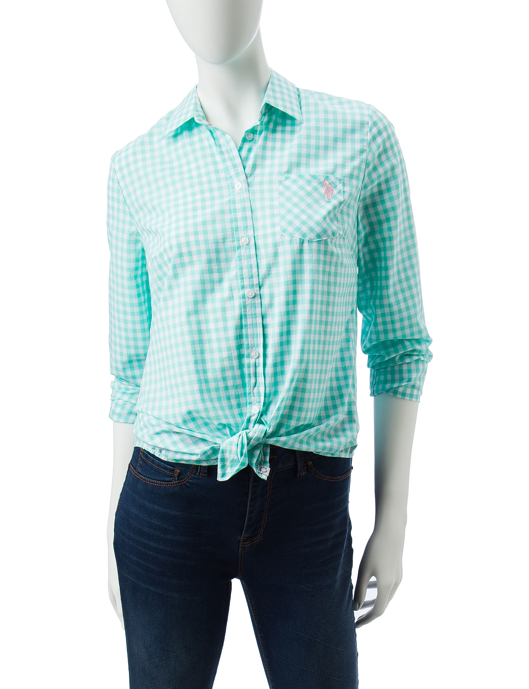 U.S. Polo Assn. Blue Shirts & Blouses