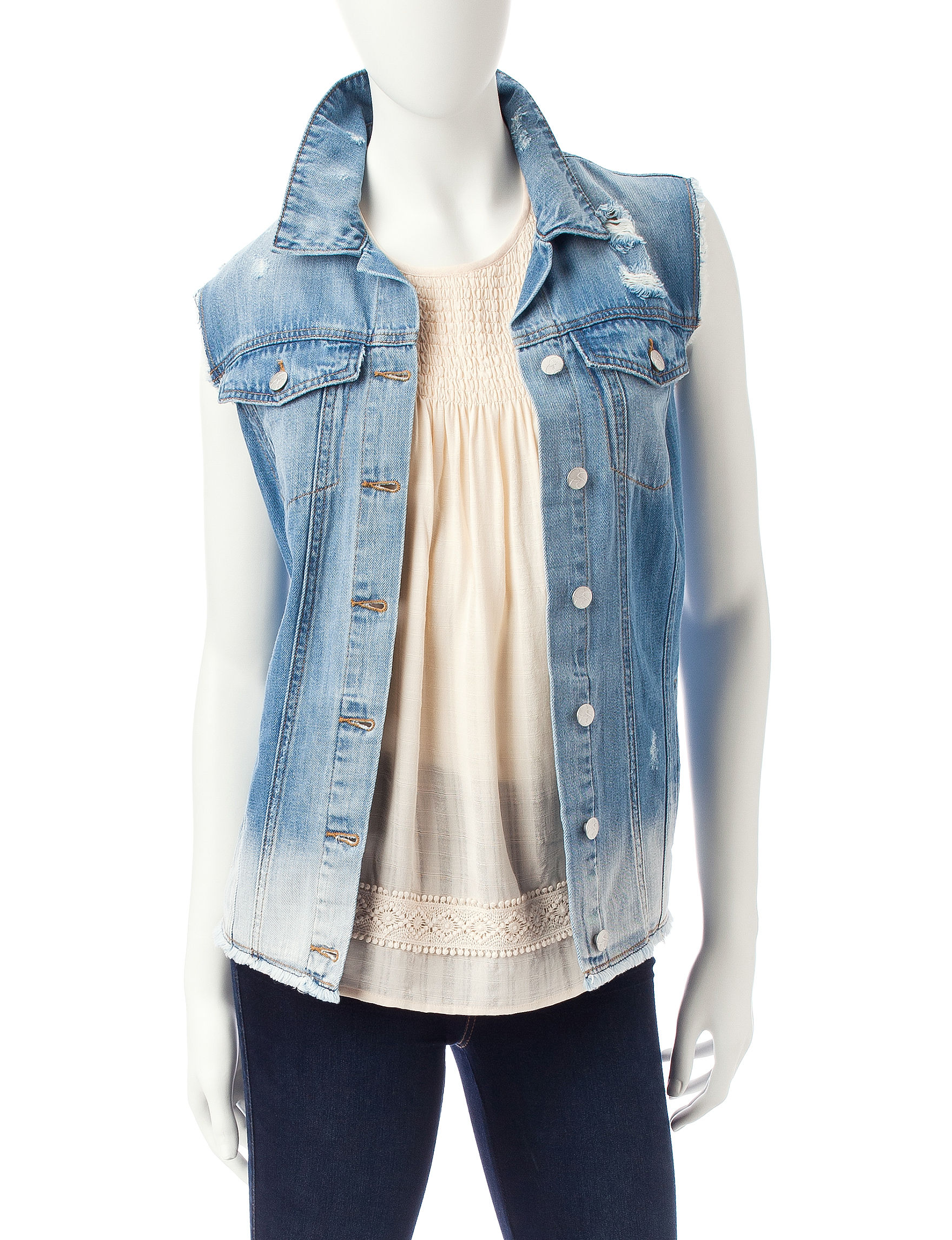 Jessica Simpson Medium Blue Vests
