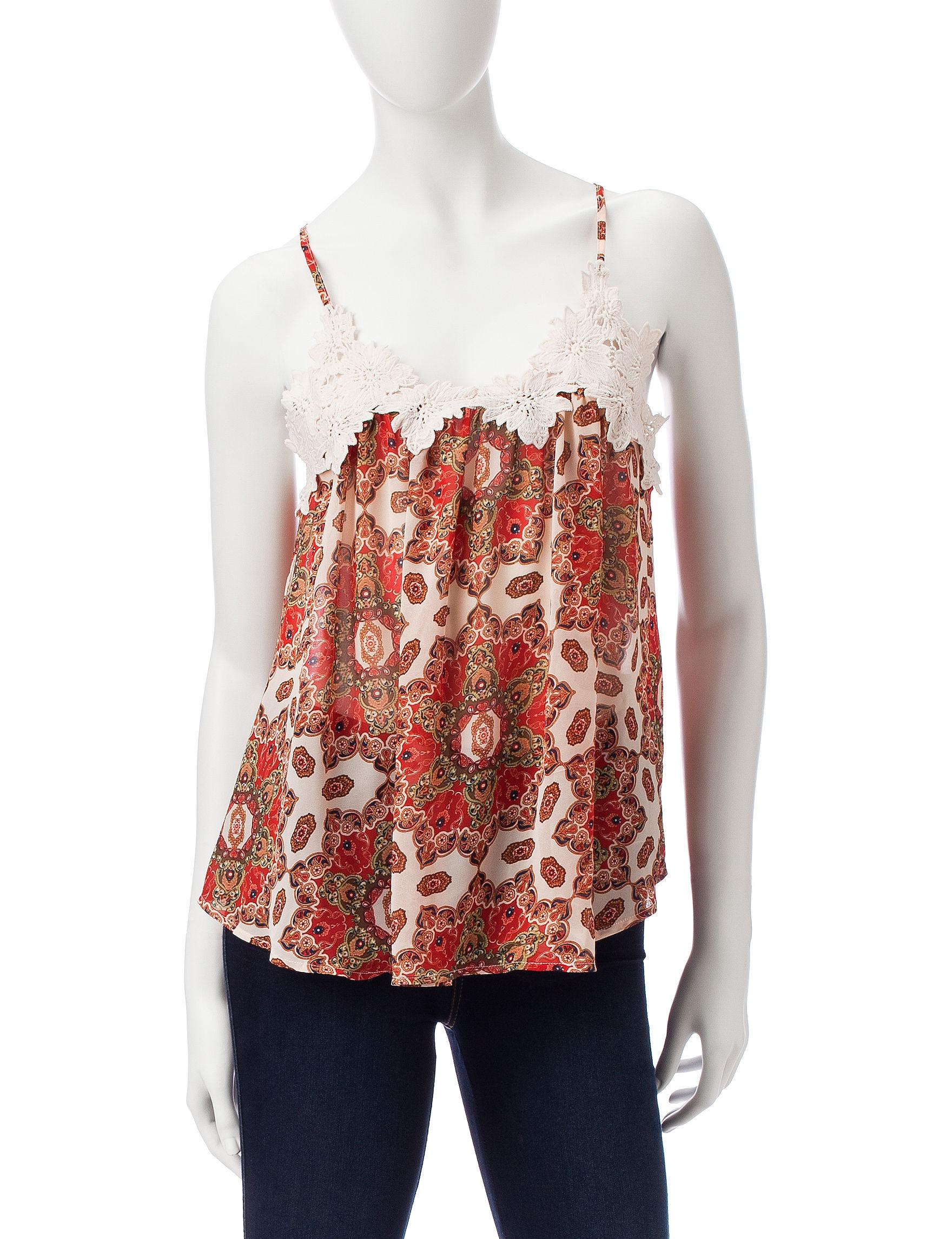 Taylor & Sage Rust Shirts & Blouses Tees & Tanks