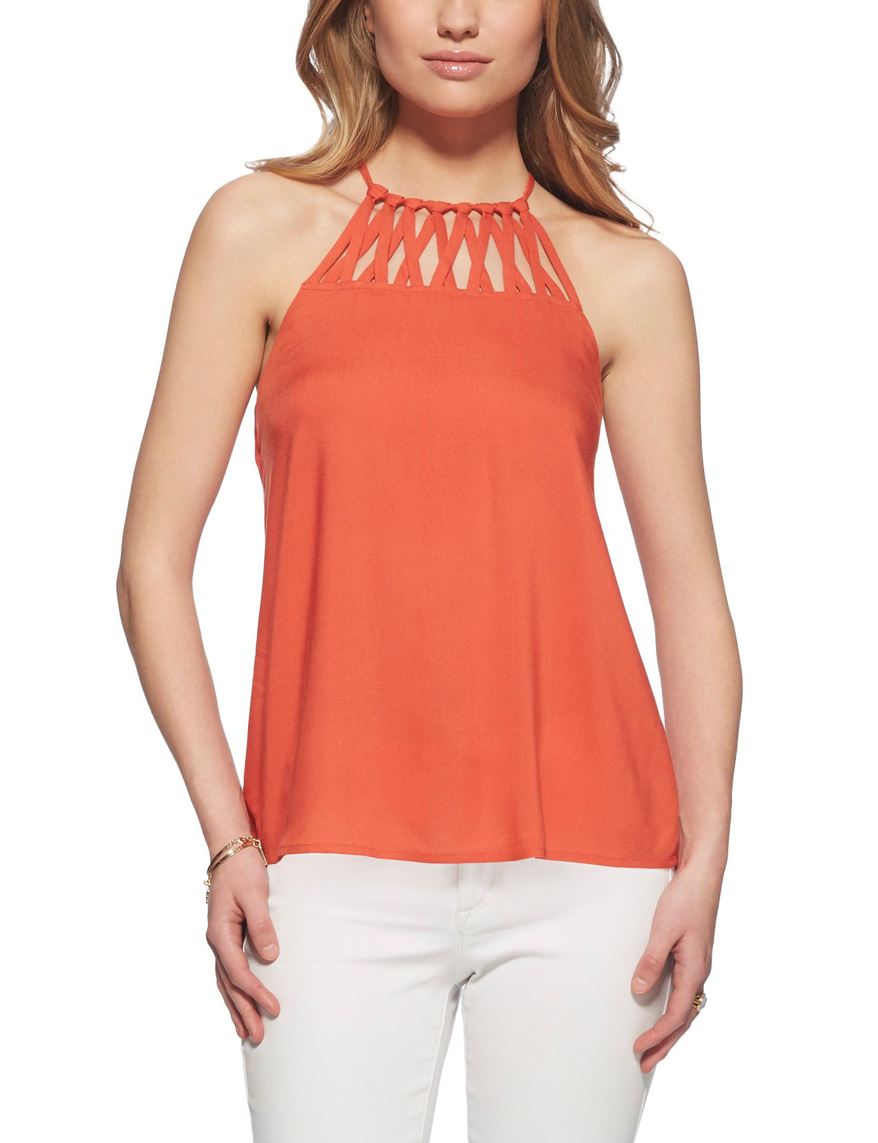 Jessica Simpson Orange Shirts & Blouses
