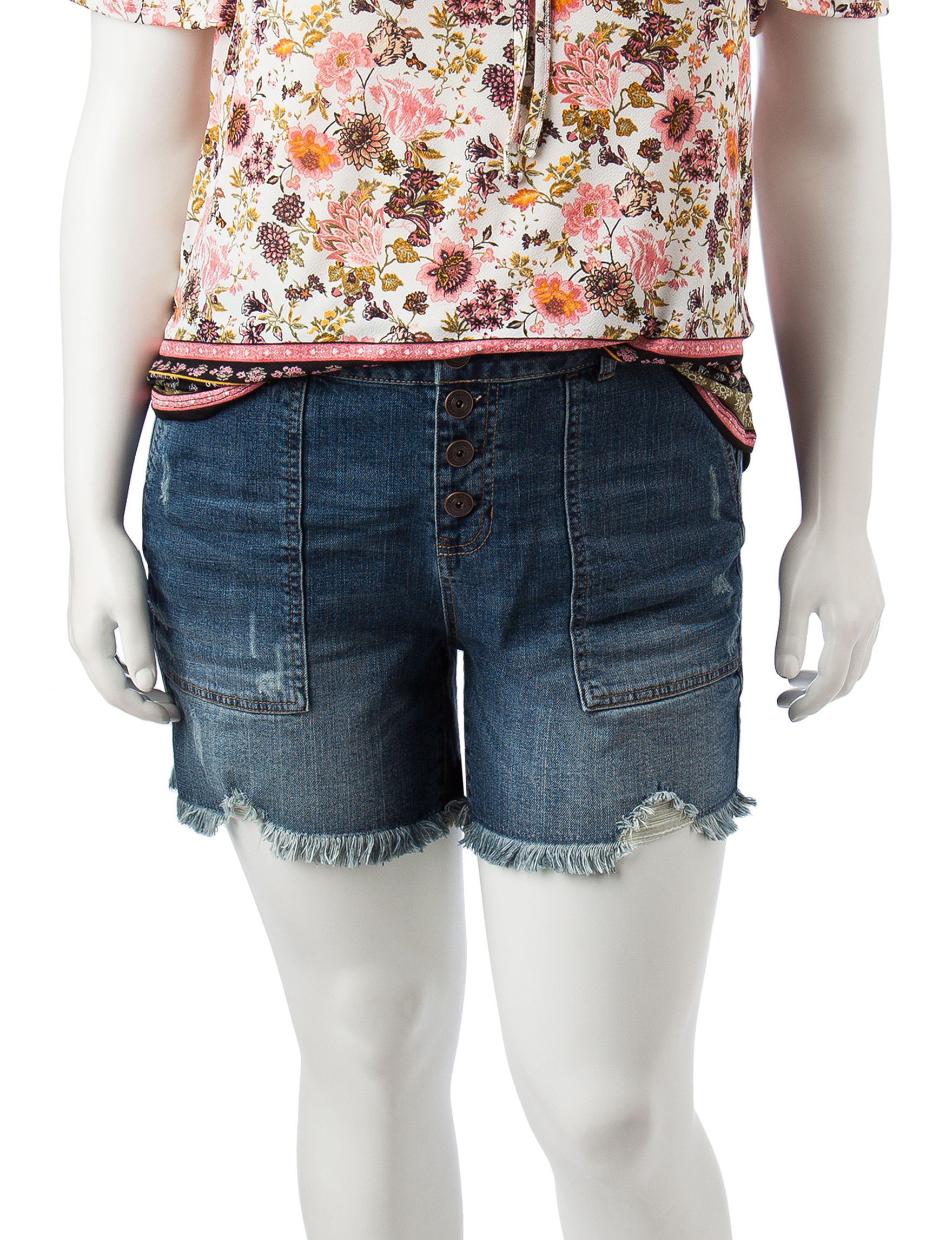 Hippie Laundry Blue Denim Shorts