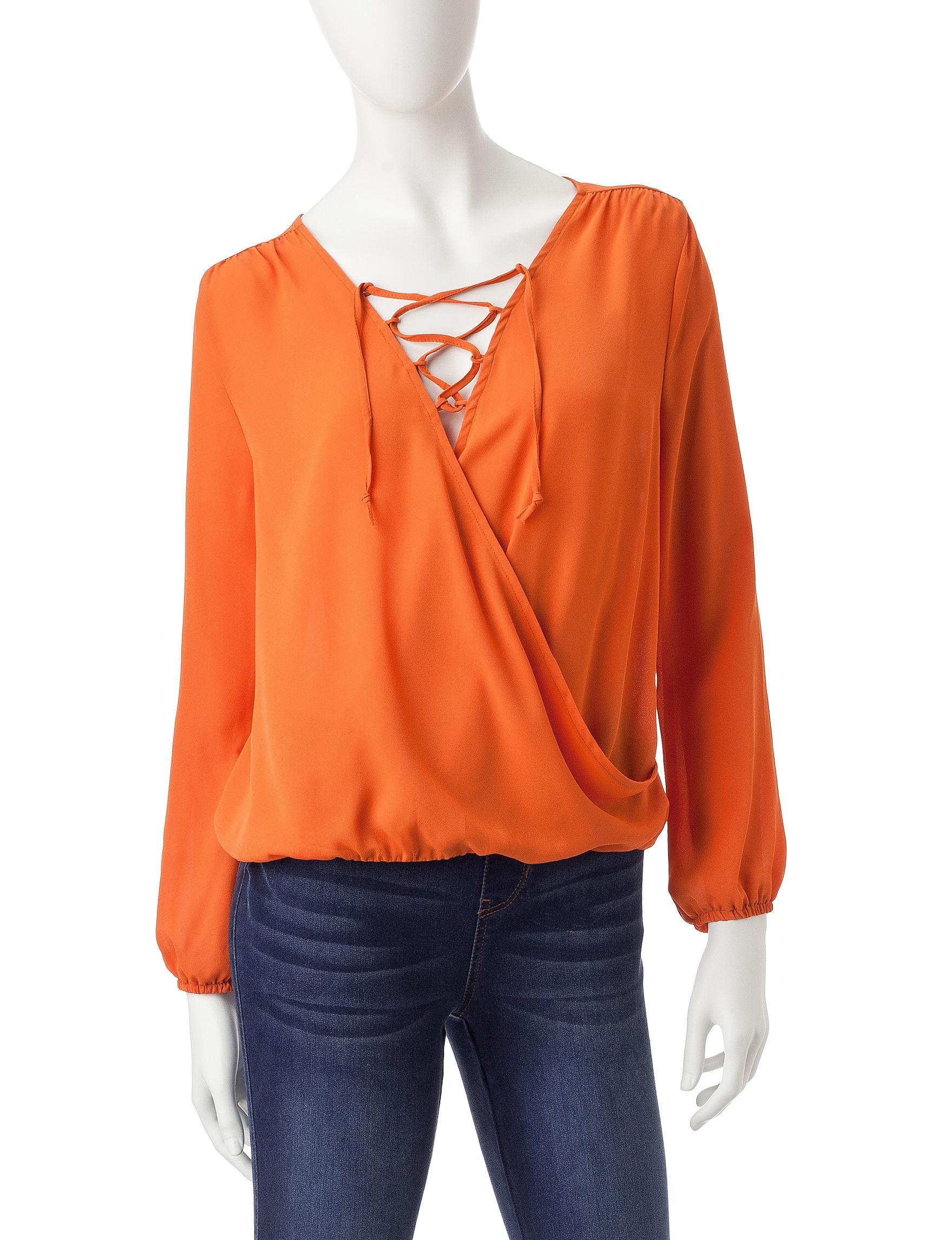 Wishful Park Orange Shirts & Blouses