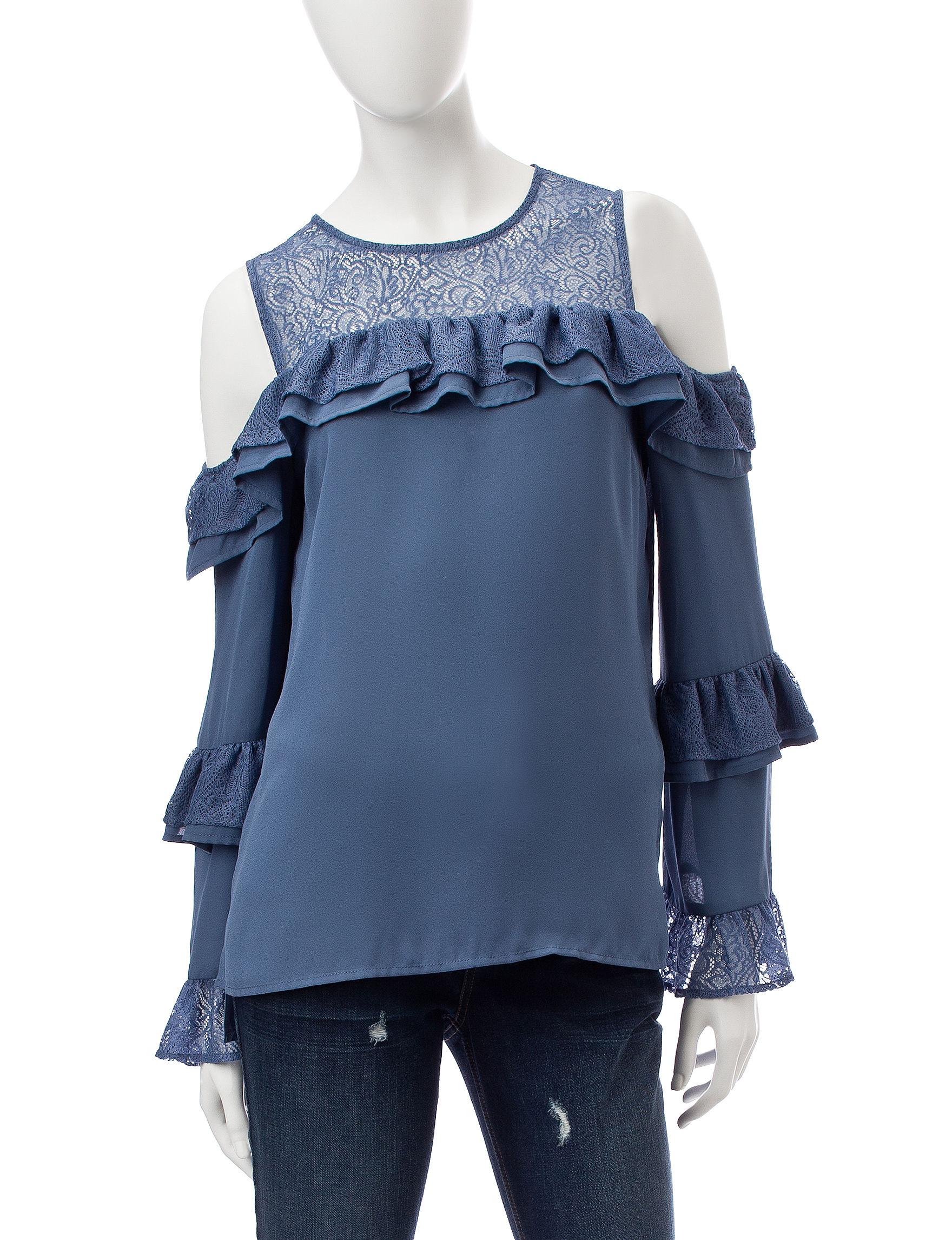 Signature Studio Blue Shirts & Blouses