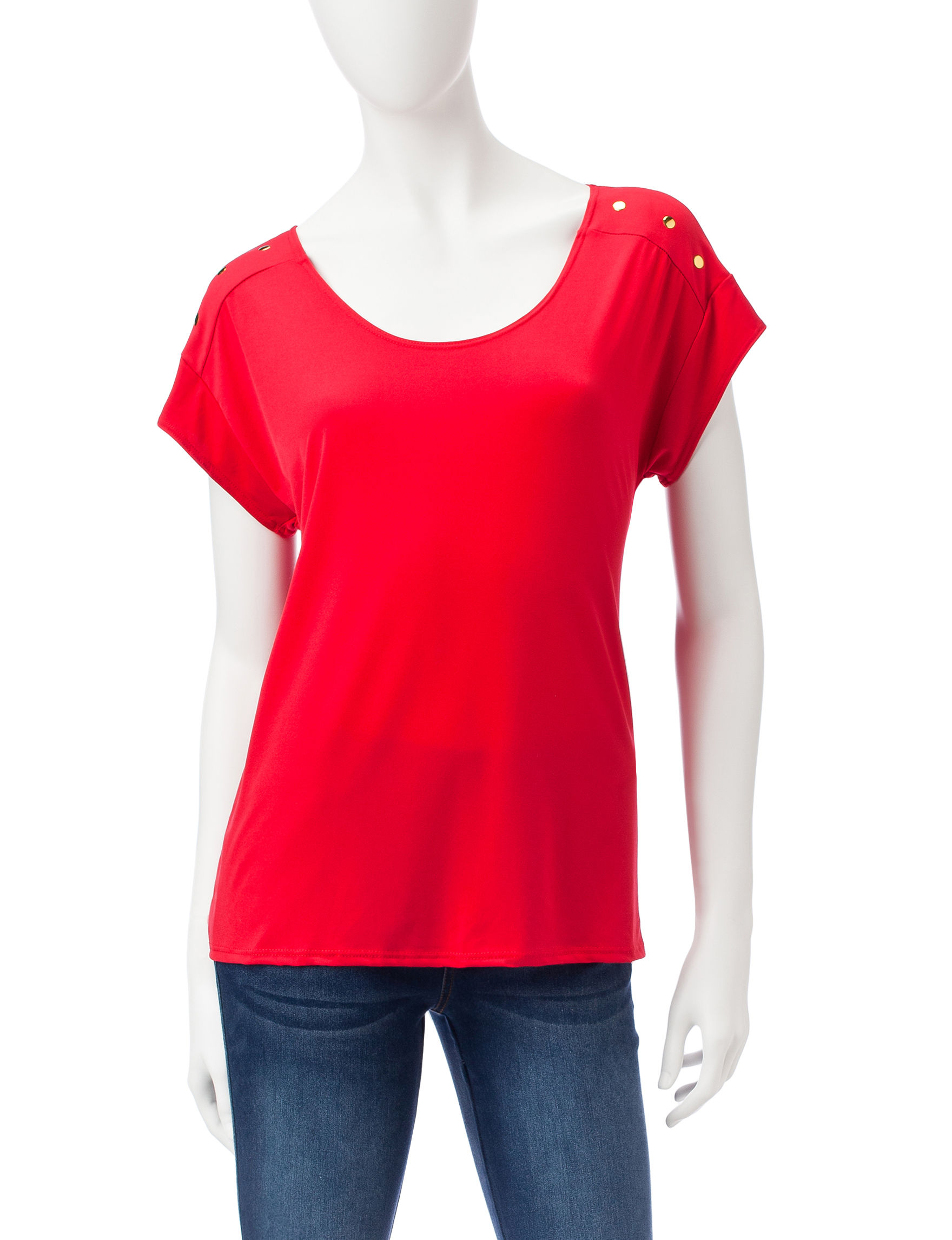 Double Click Red Shirts & Blouses