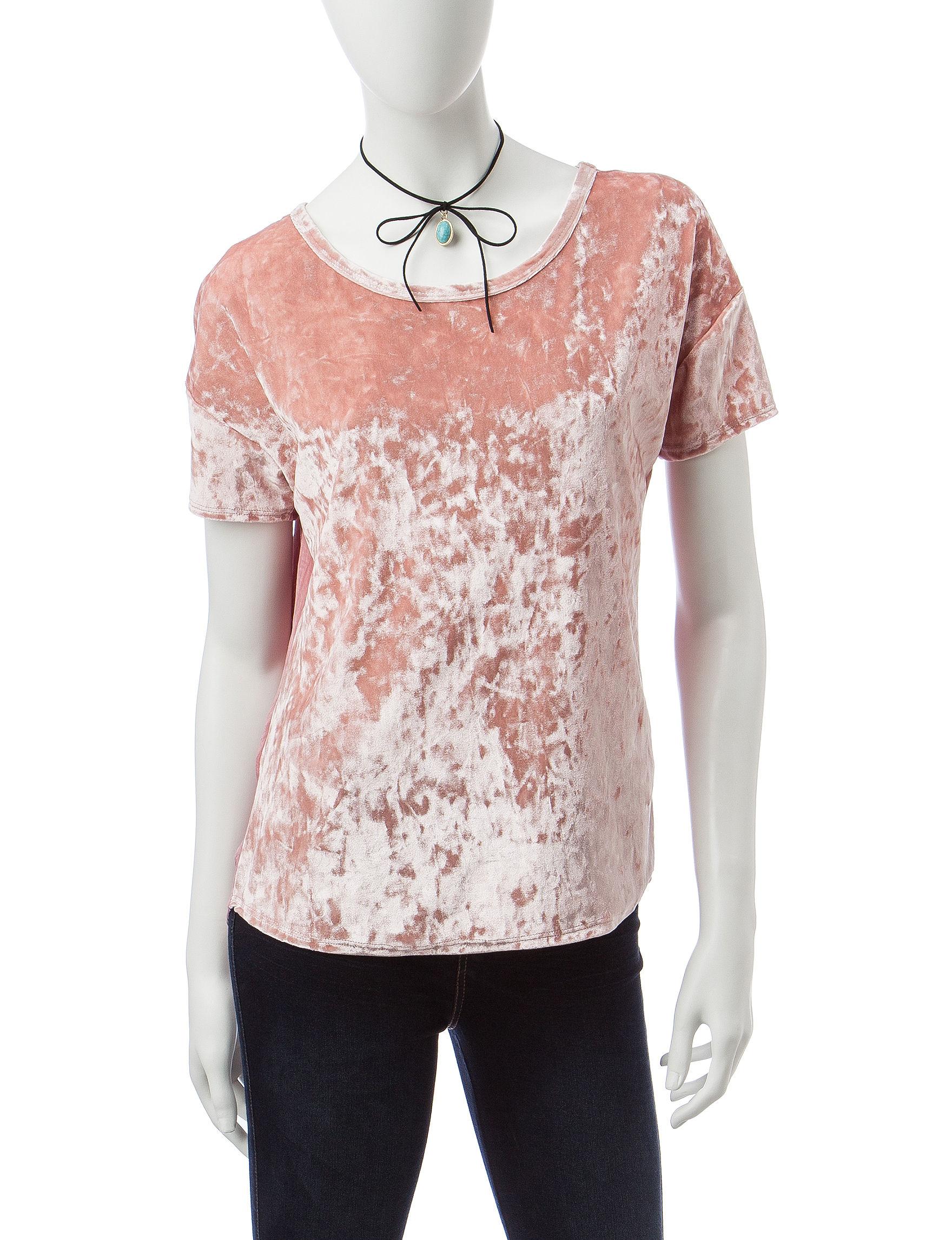 Self Esteem Pink Shirts & Blouses Tunics