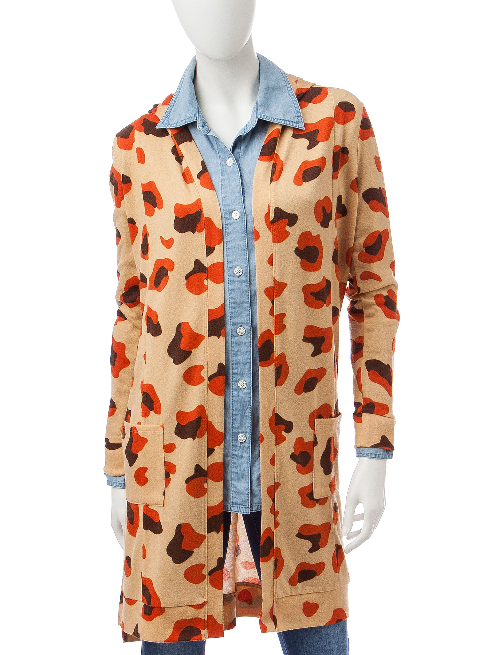 It's Our Time Cheetah Print Hooded Cardigan | Stage Stores