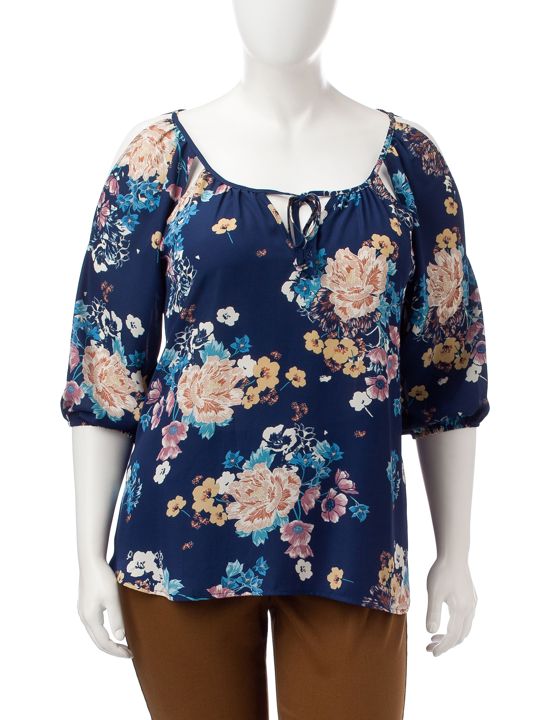 Liberty Love Navy / Multi Shirts & Blouses