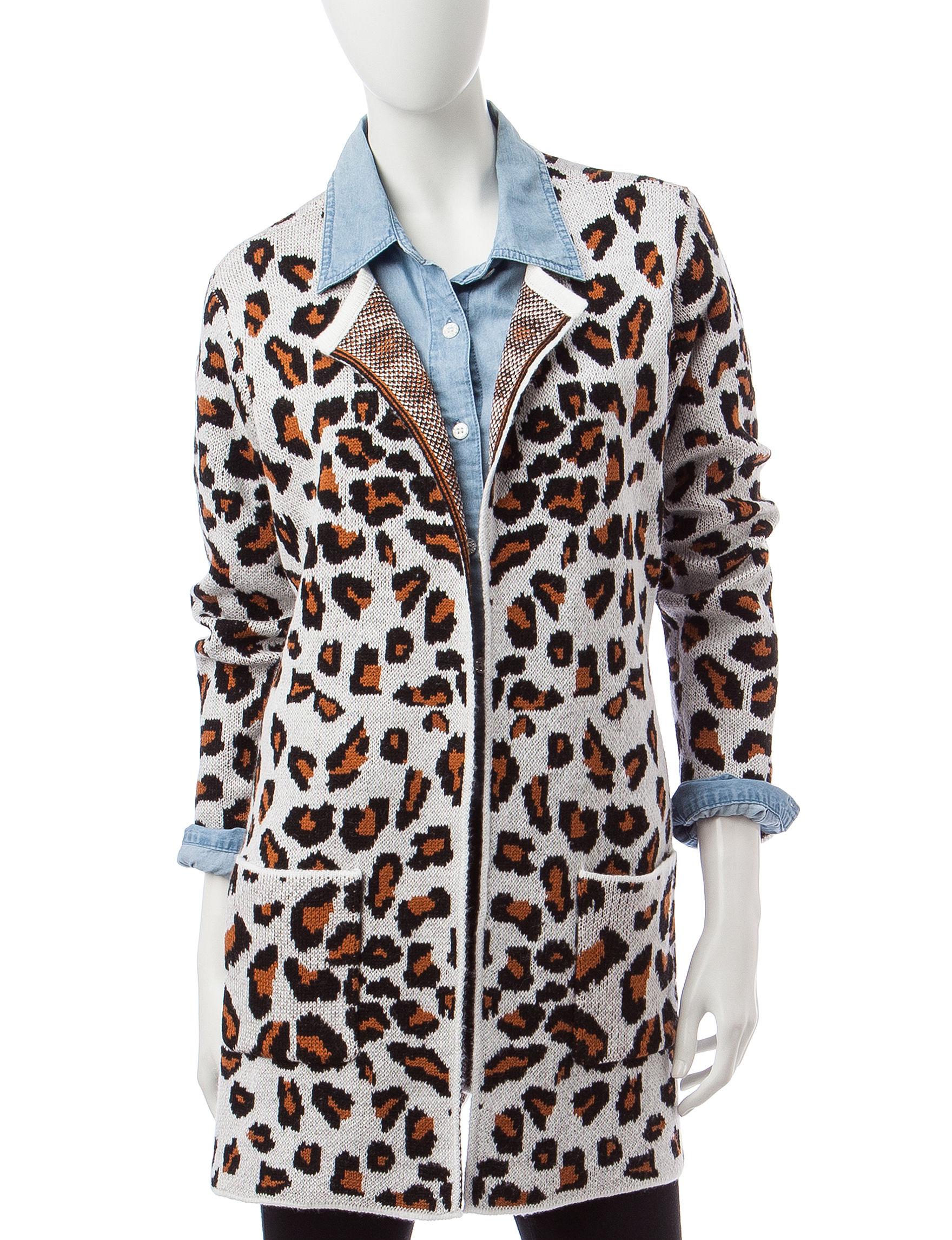 Signature Studio Leopard Print Cardigan | Stage Stores