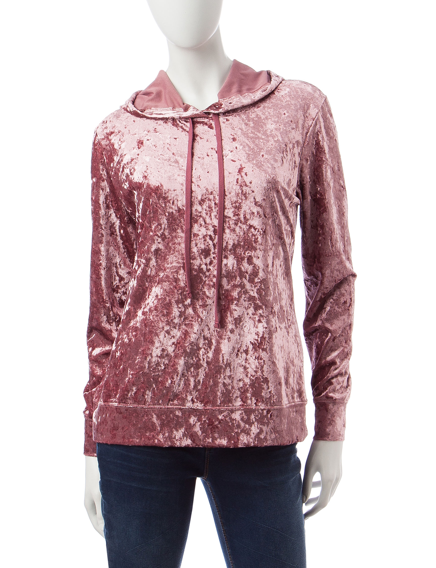 Signature Studio Pink Fleece & Soft Shell Jackets Shirts & Blouses