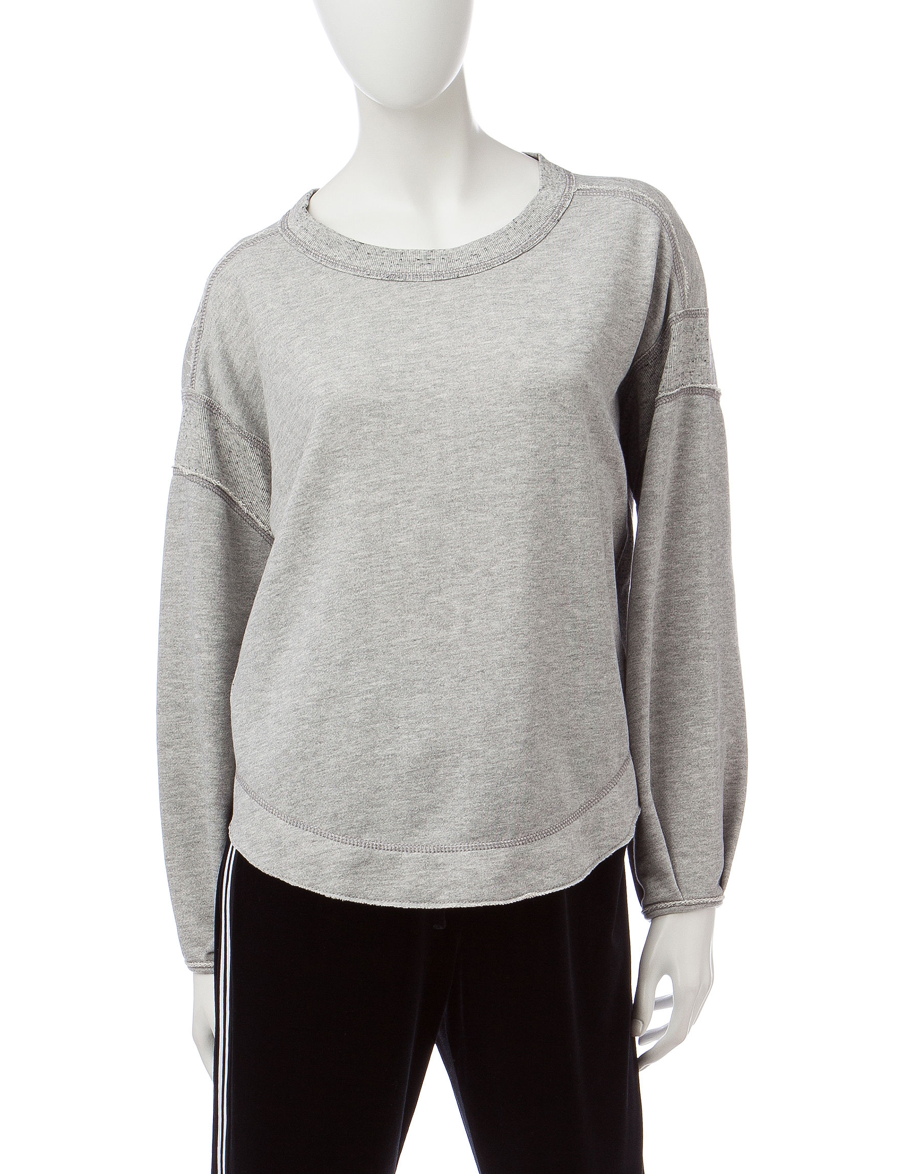 Signature Studio Heather Grey Shirts & Blouses