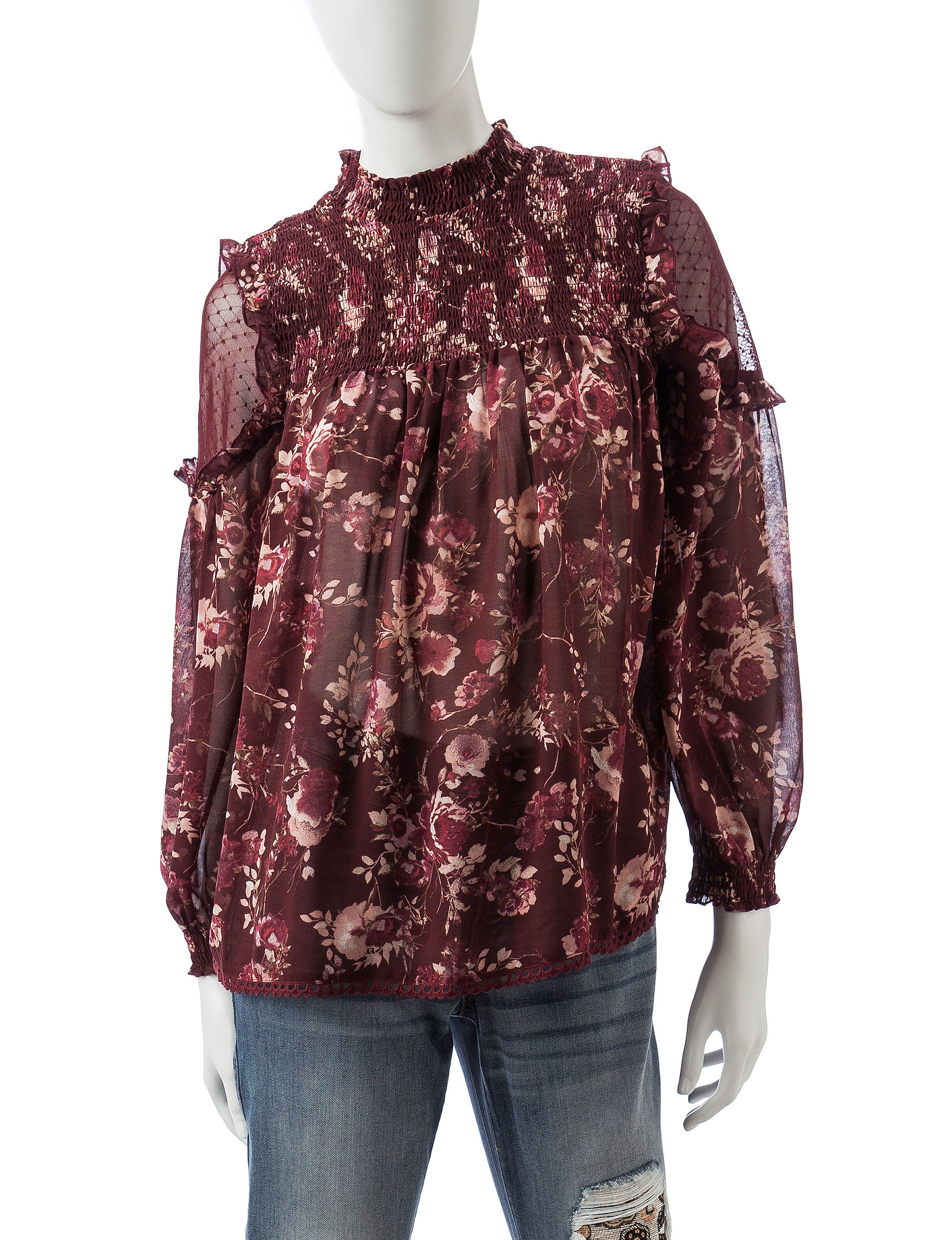 Taylor & Sage Red Shirts & Blouses