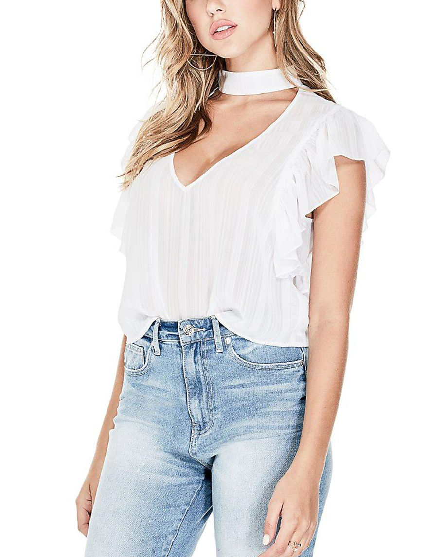 G by Guess White Shirts & Blouses