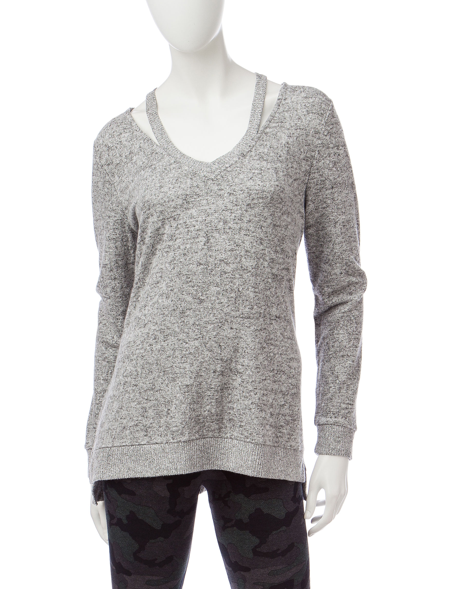Miss Chevious Grey Pull-overs