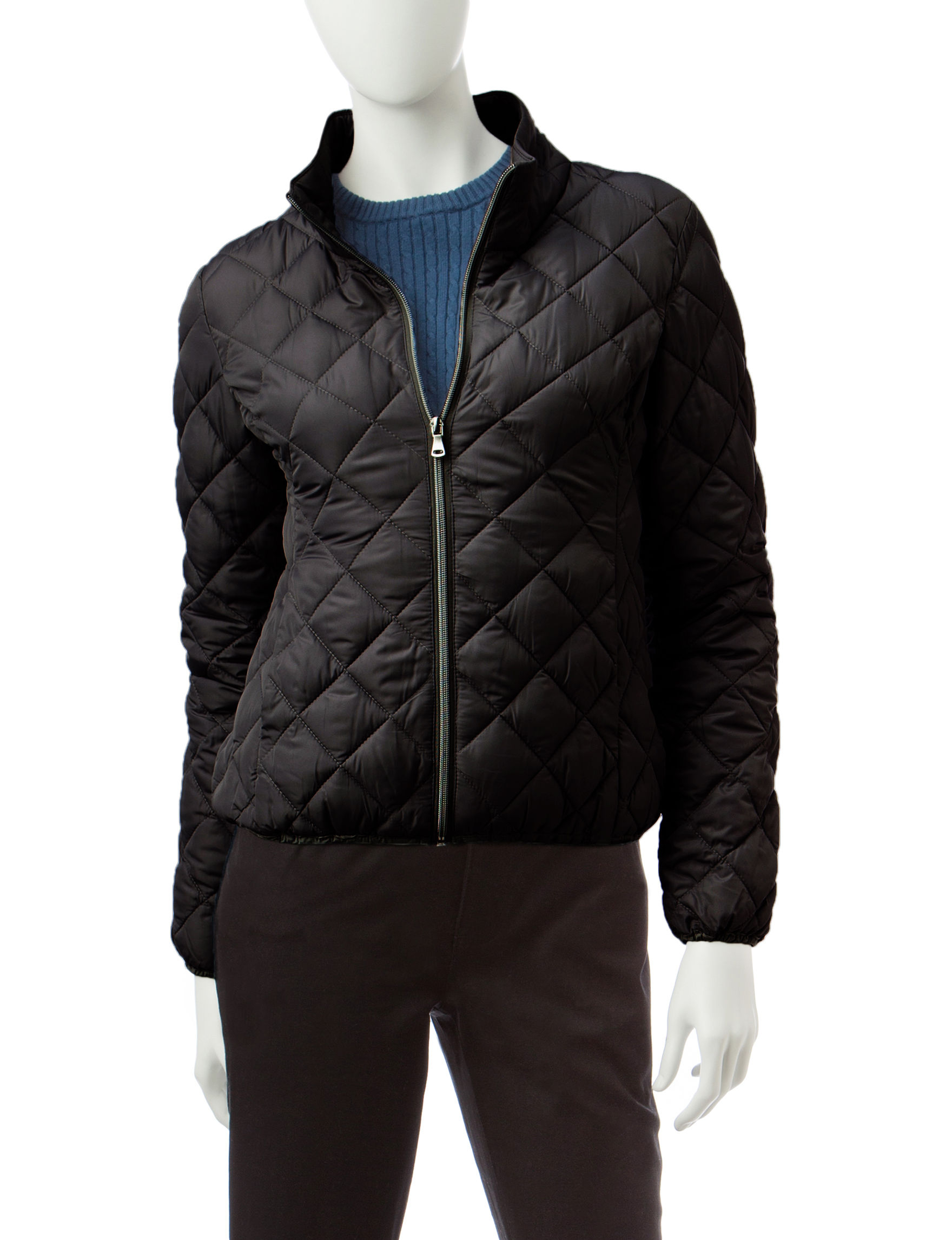 Rampage Black Puffer & Quilted Jackets
