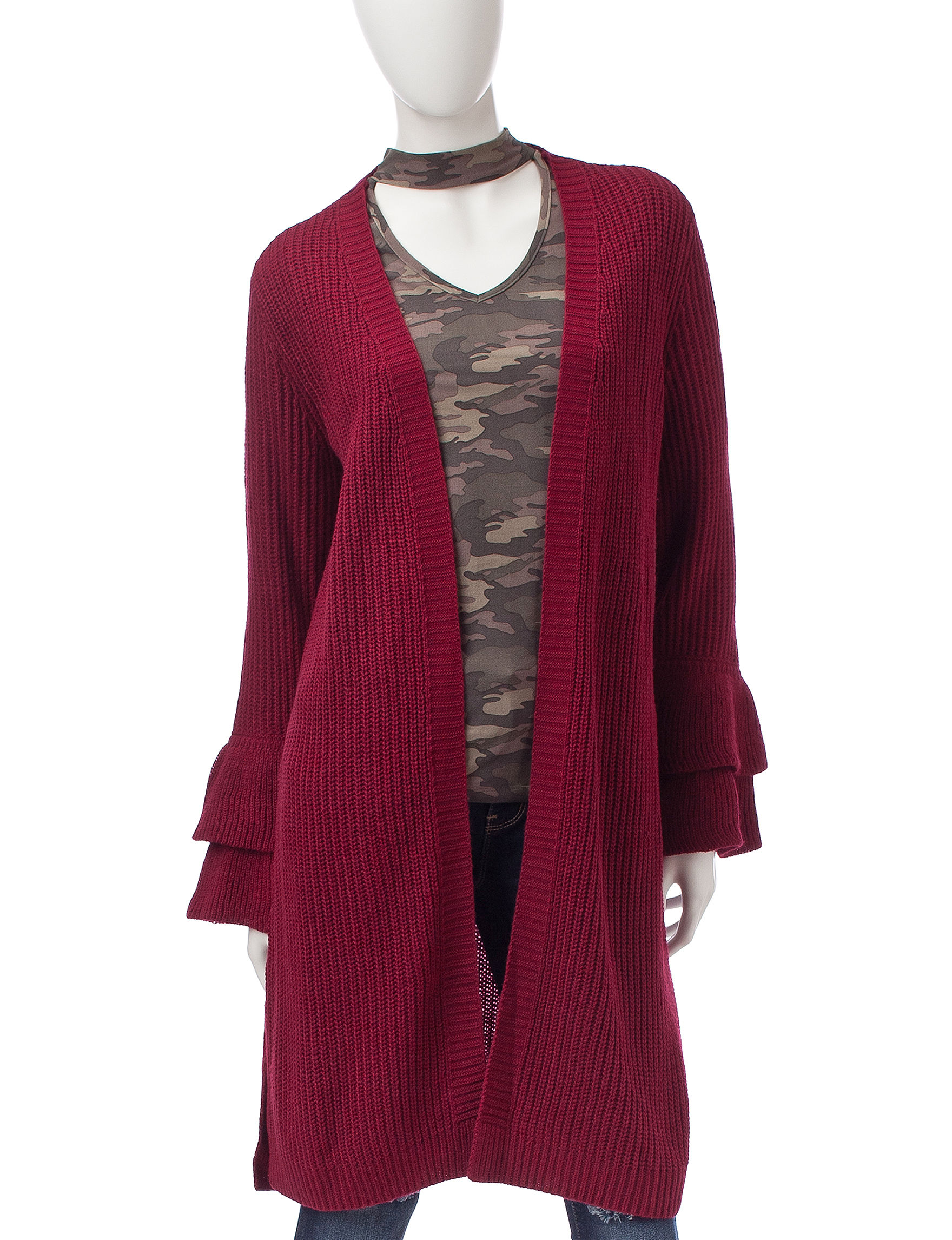 It's Our Time Ruffle Cardigan | Stage Stores
