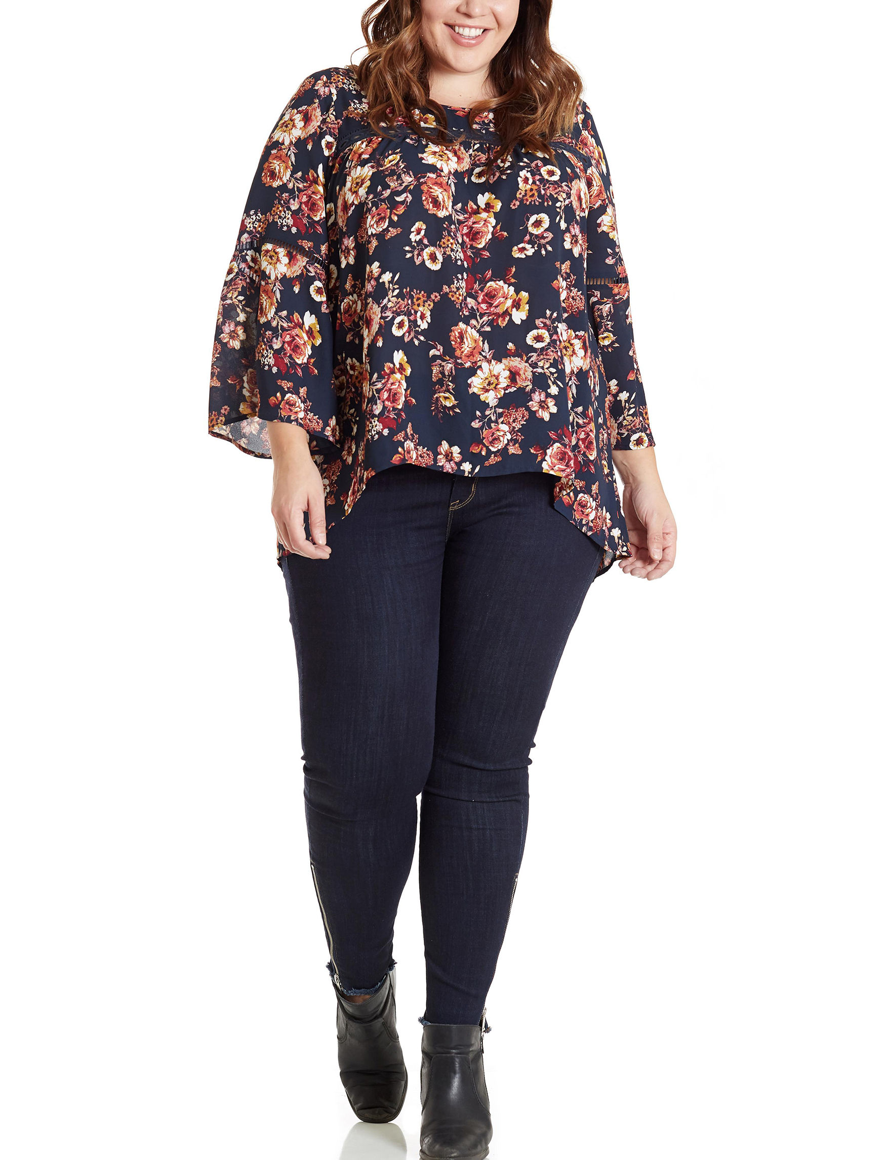 Eyeshadow Floral Shirts & Blouses