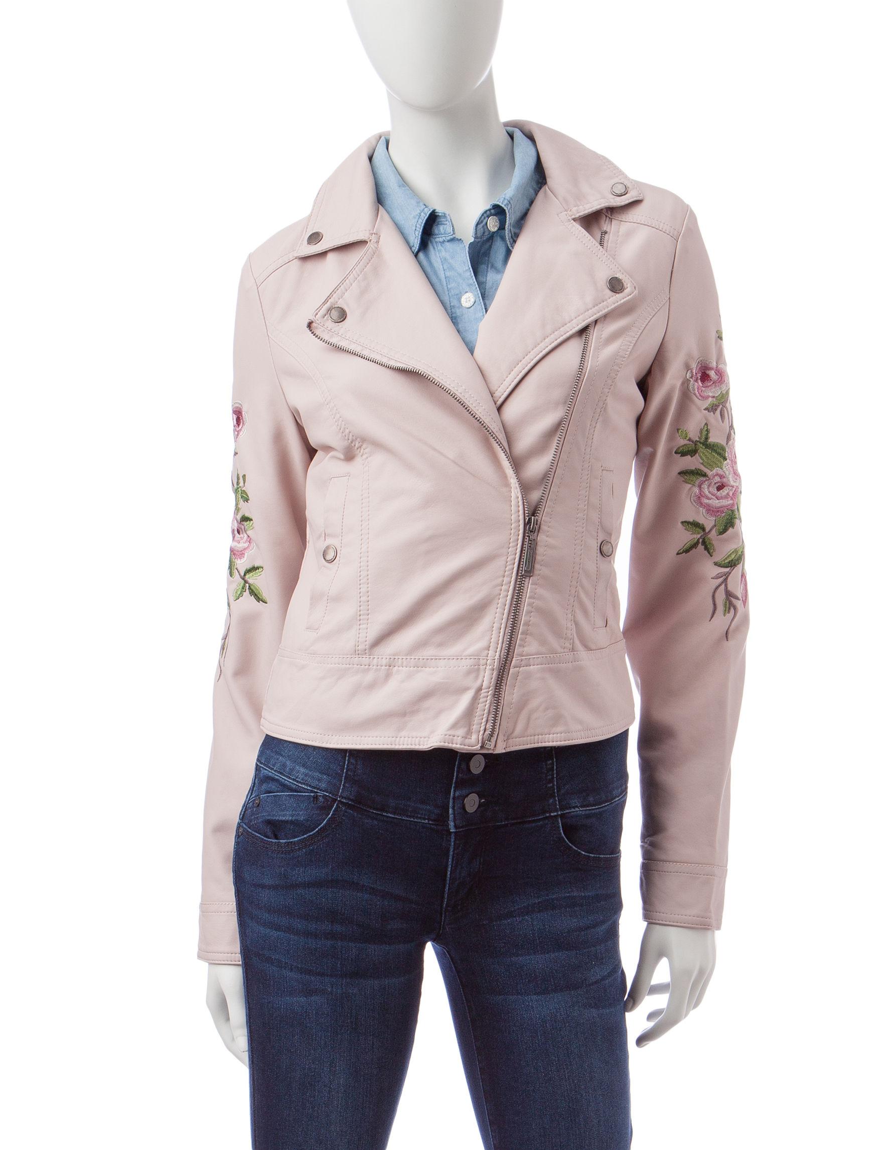 Jou-Jou Light Pink Bomber & Moto Jackets