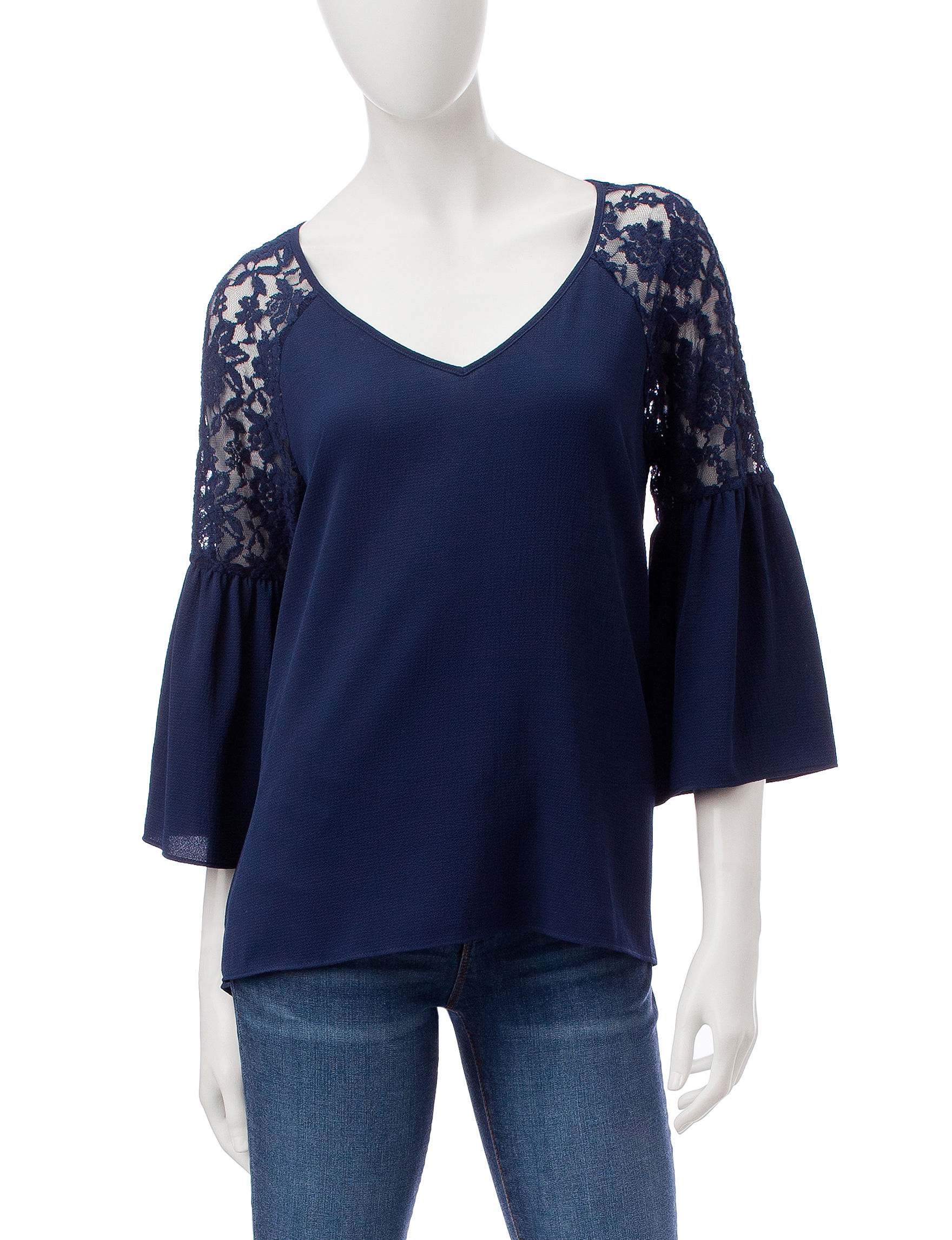 Signature Studio Navy Shirts & Blouses