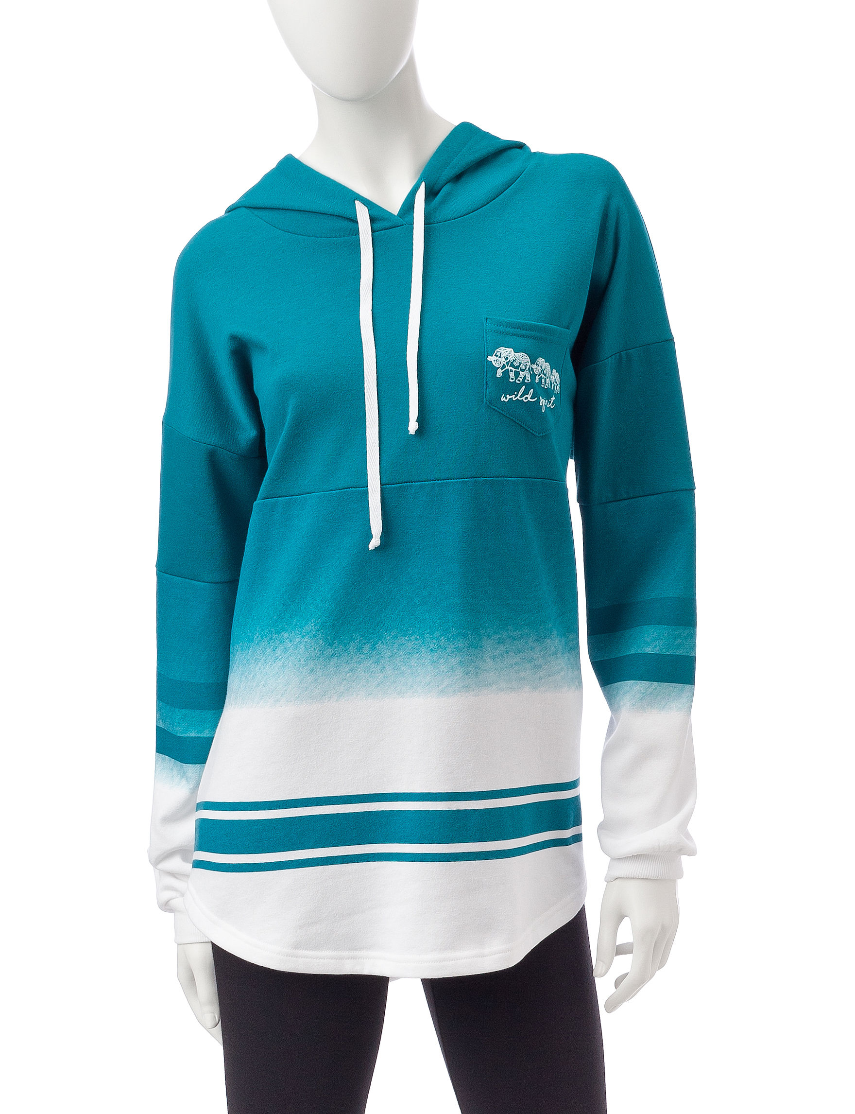 Justify Deep Teal Pull-overs