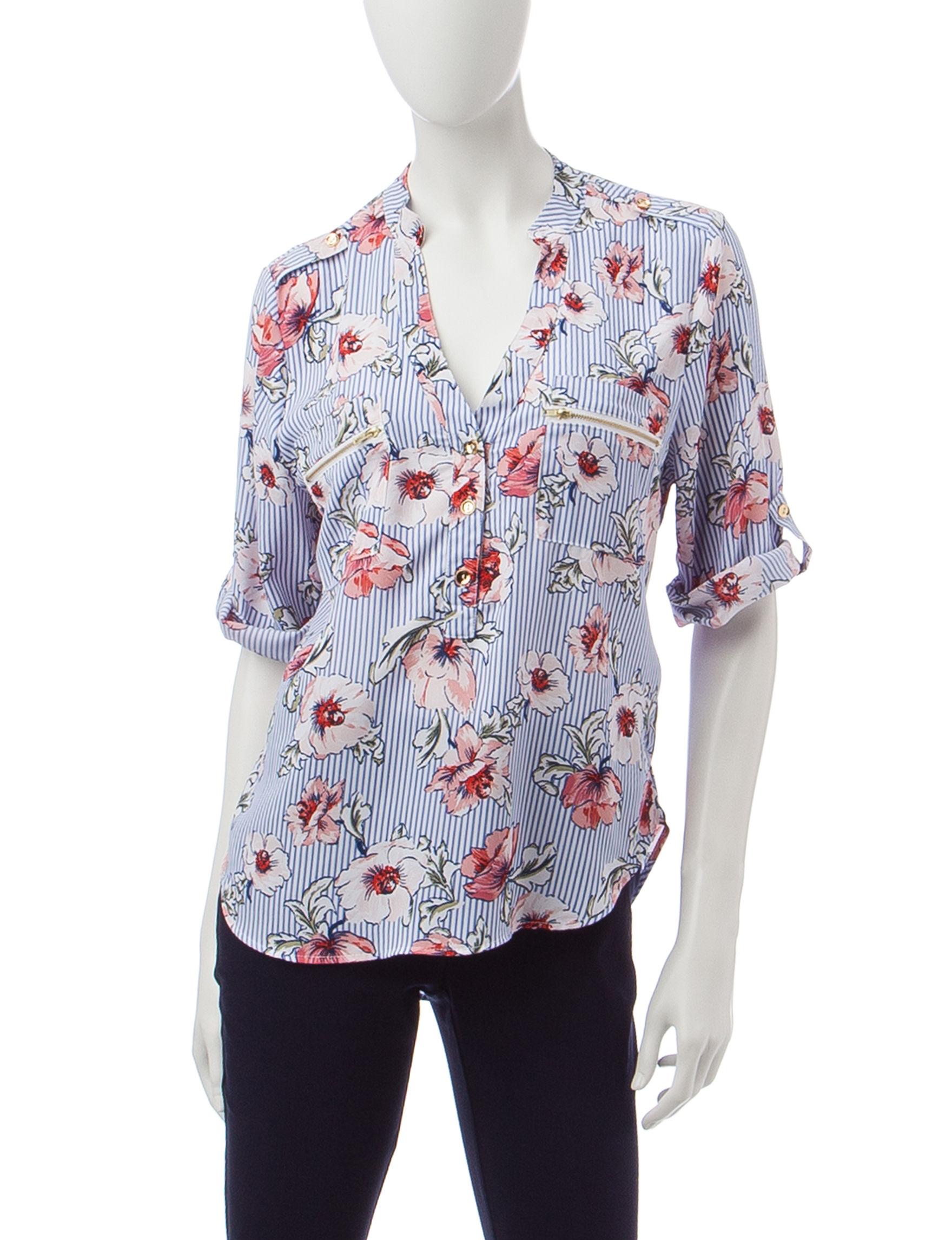 Wishful Park Stripe / Floral Shirts & Blouses