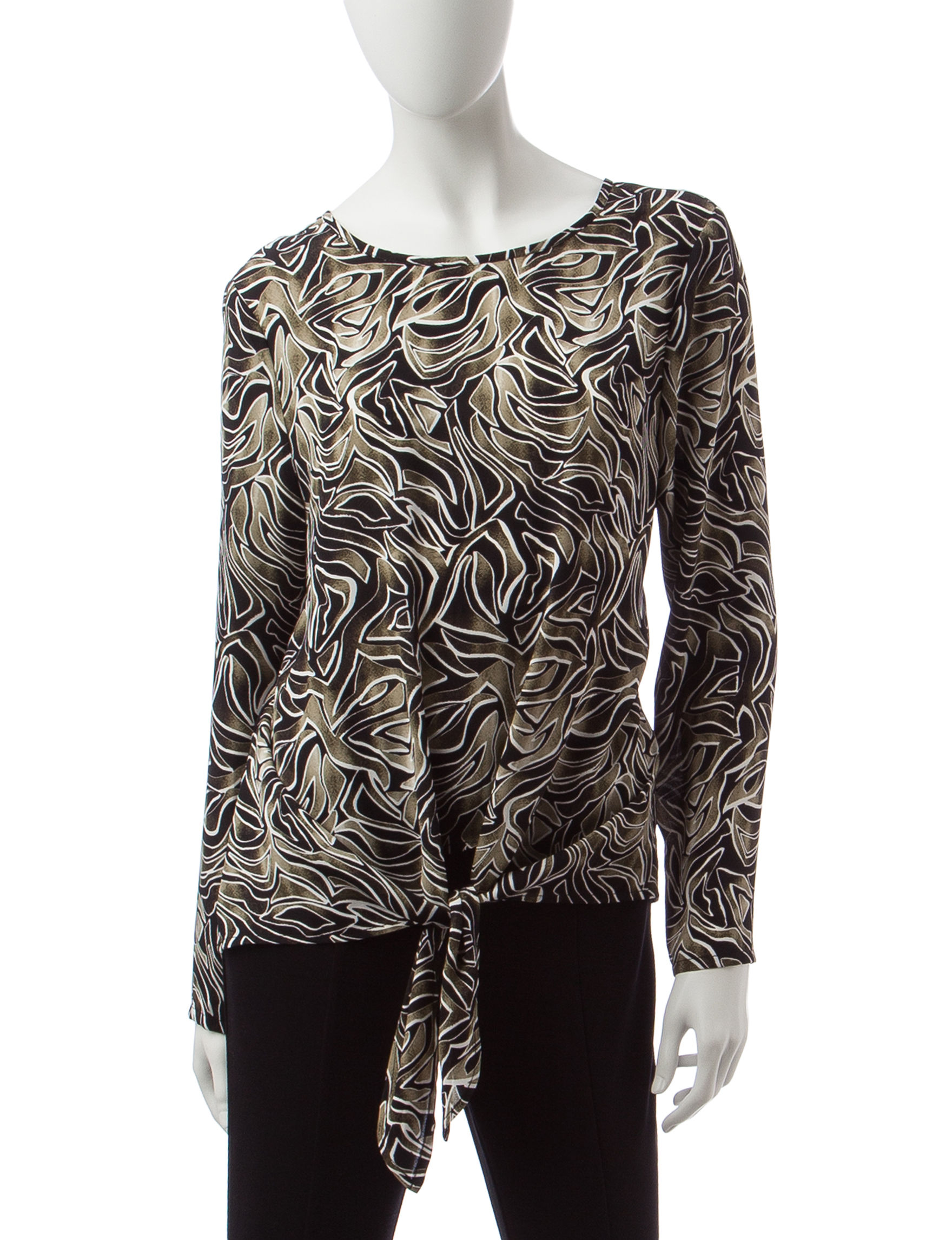 Signature Studio Black Multi Shirts & Blouses