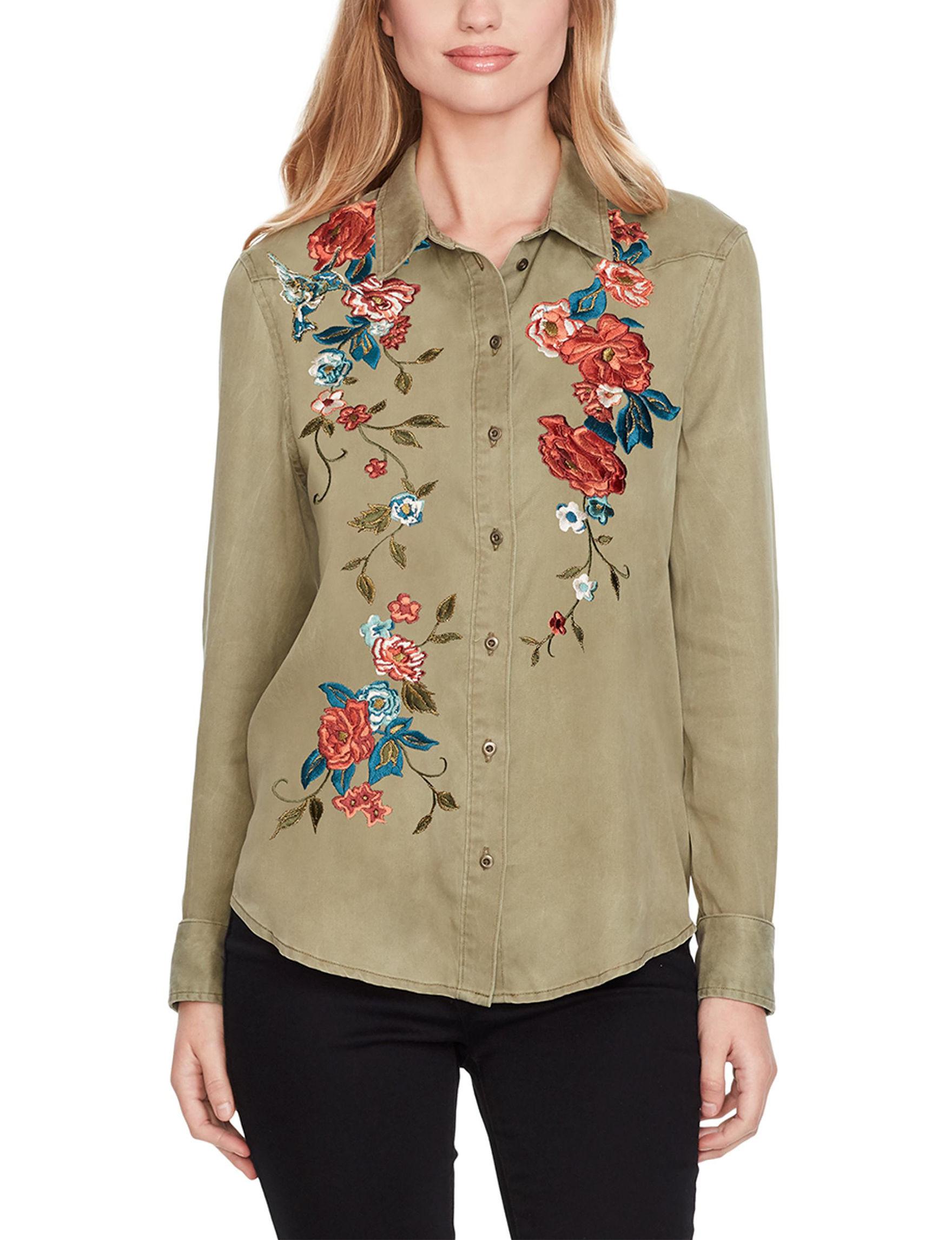 Jessica Simpson Olive Shirts & Blouses
