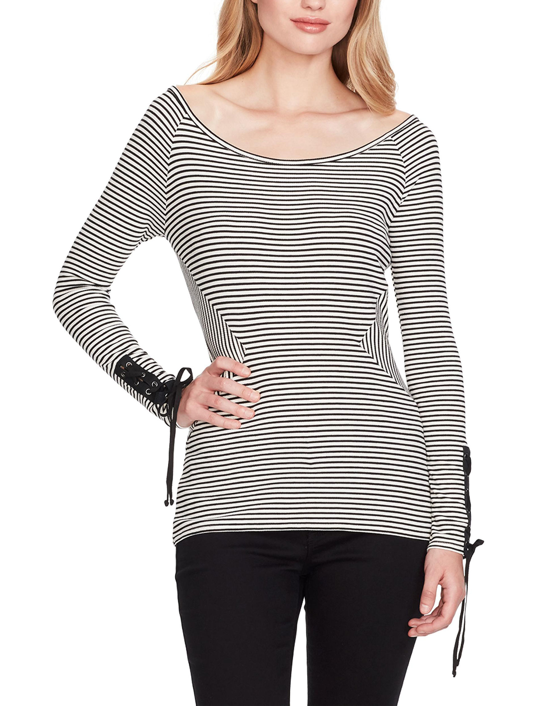 Jessica Simpson Black / White Stripe