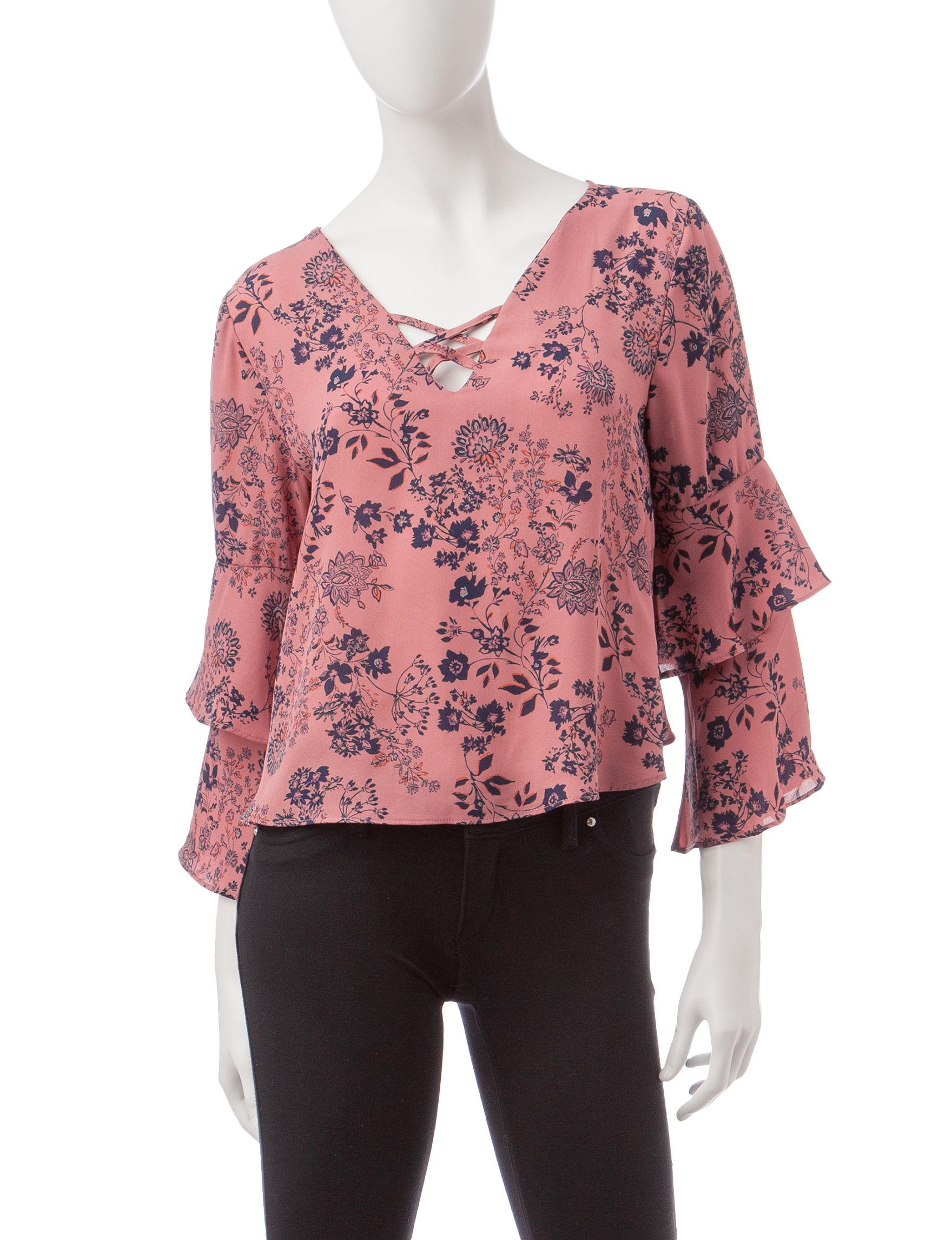 Wishful Park Rose / Black Shirts & Blouses
