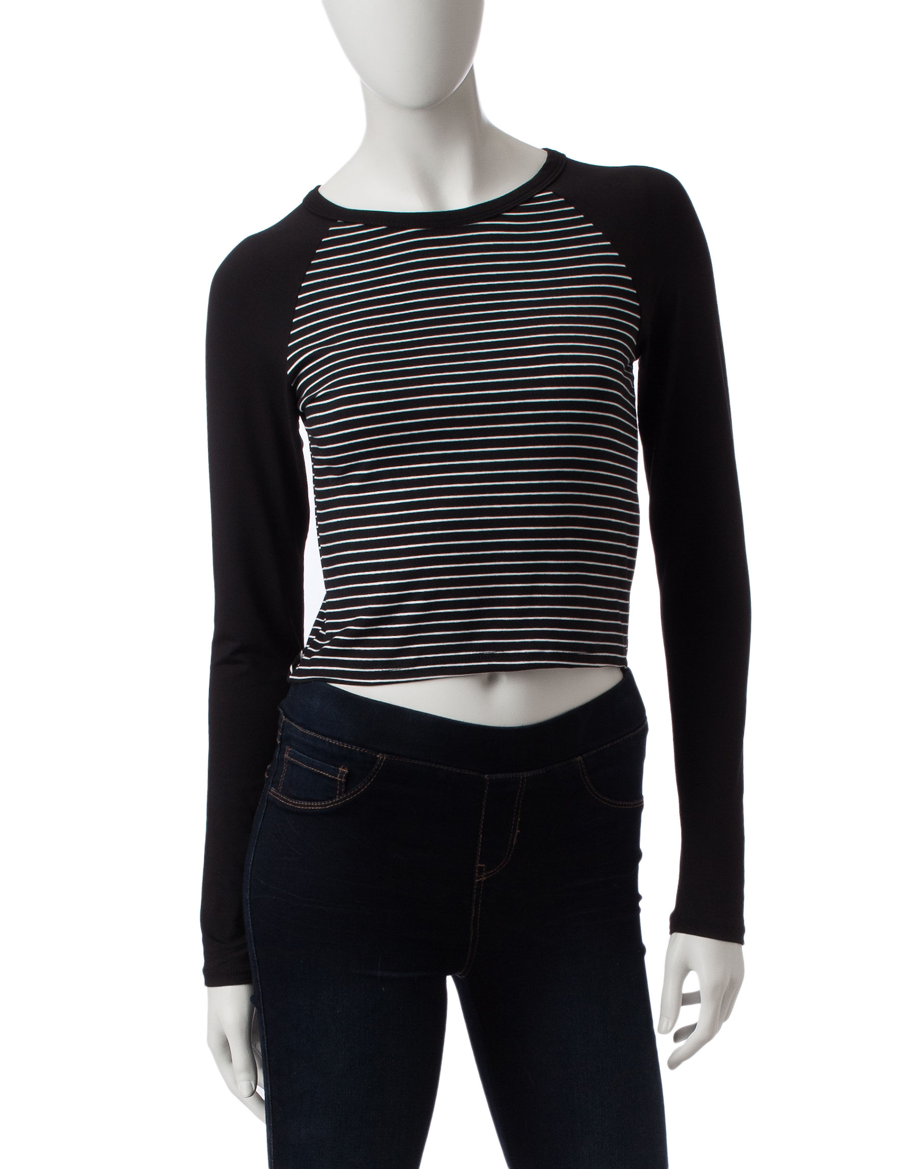 Wishful Park Black / White Shirts & Blouses
