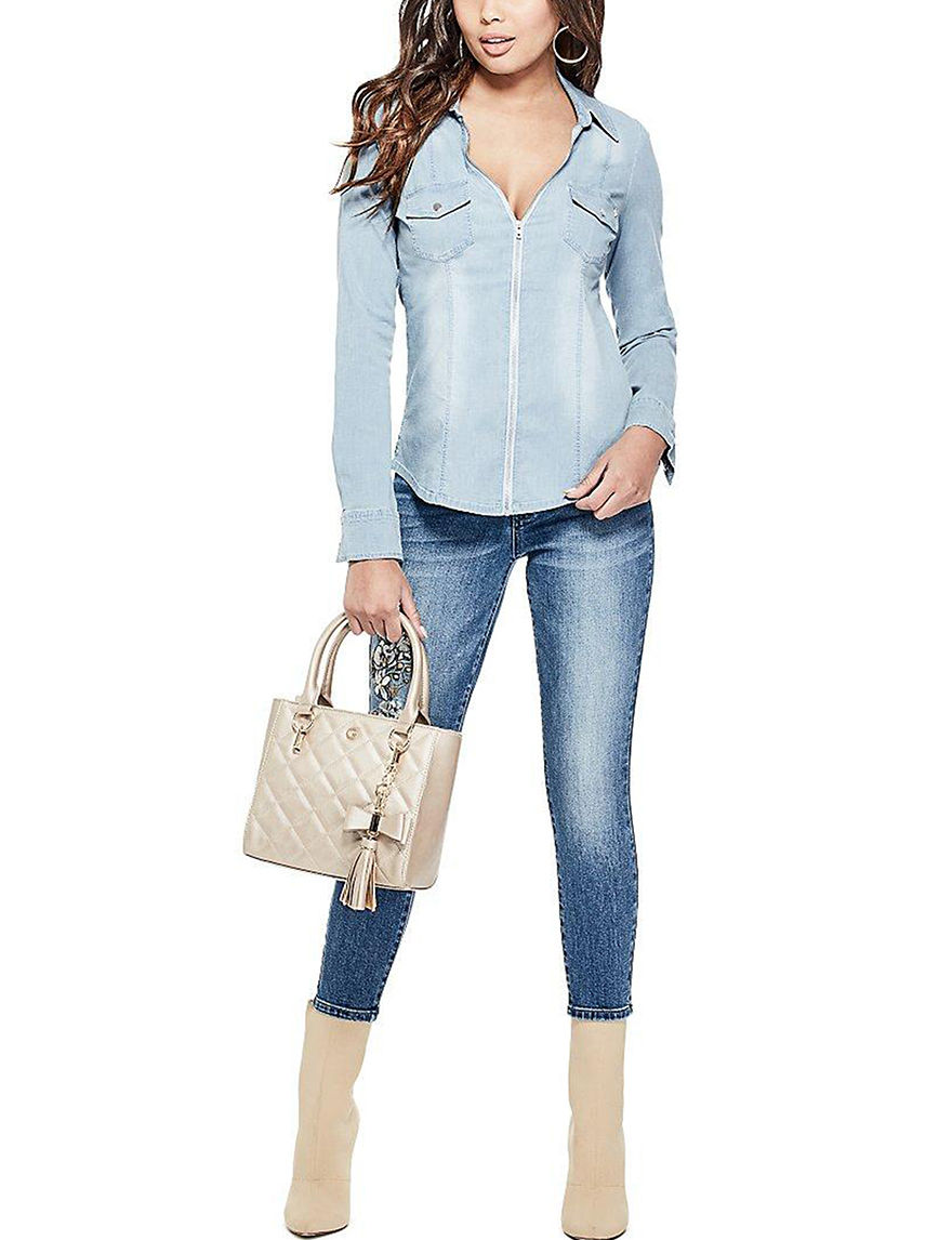 G by Guess Denim Blue Shirts & Blouses