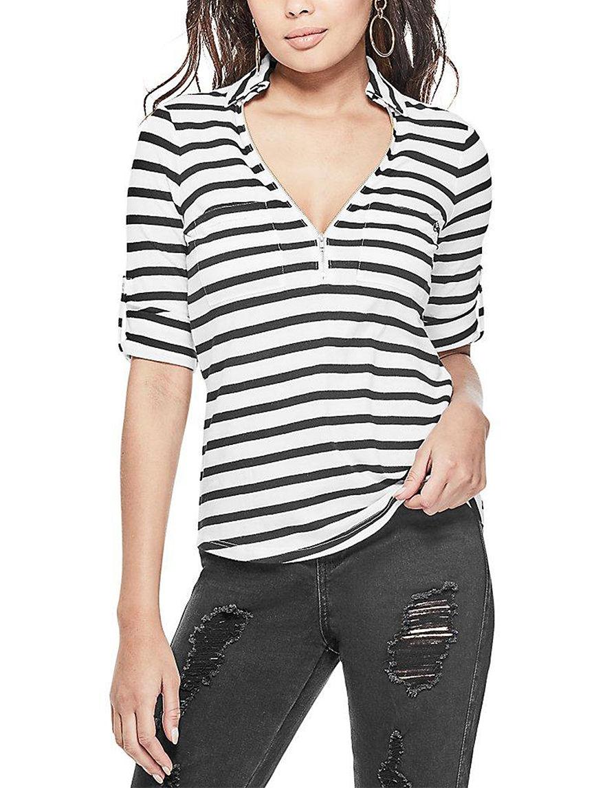 G by Guess White Stripe Shirts & Blouses