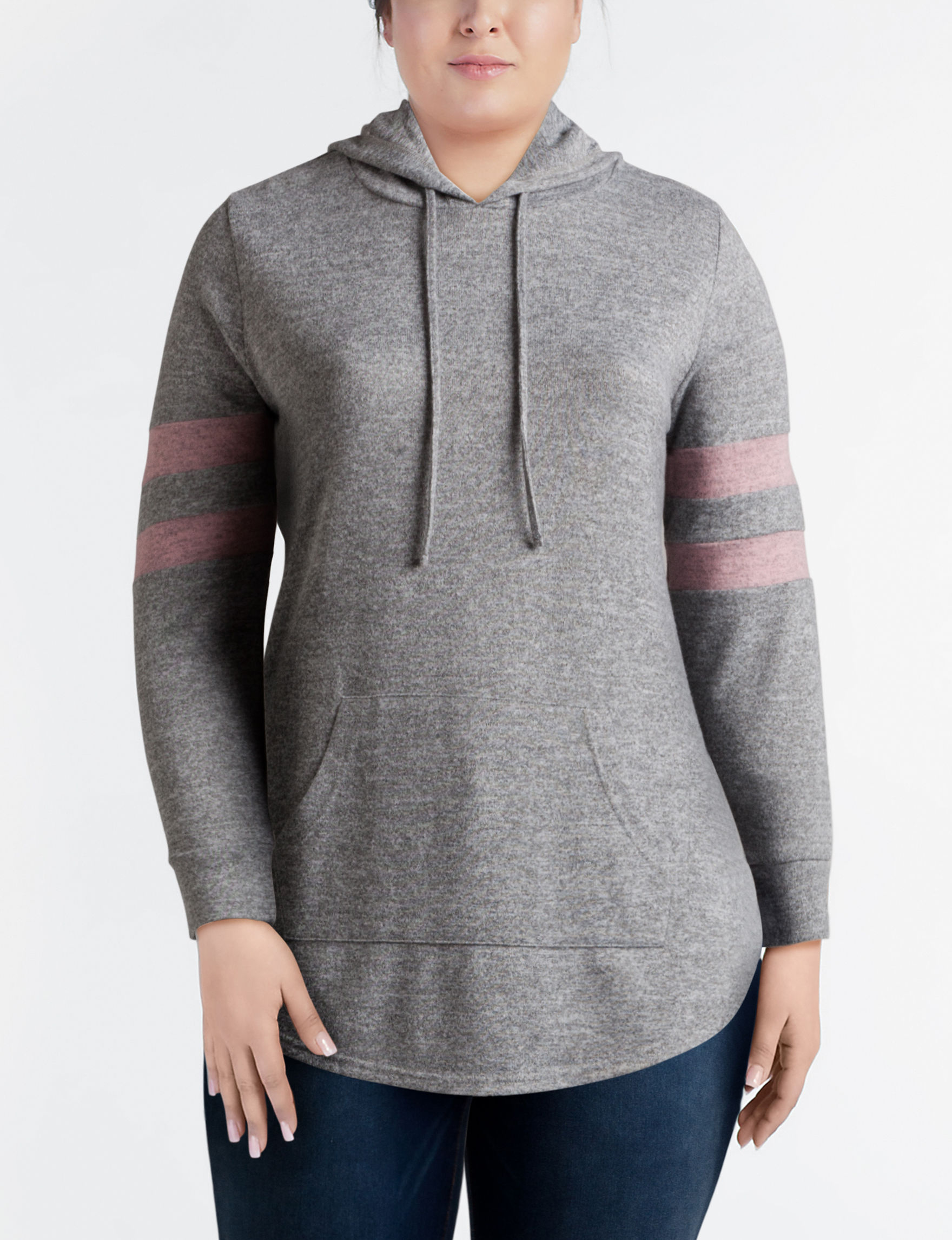 Almost Famous Heather Grey Pull-overs Tunics