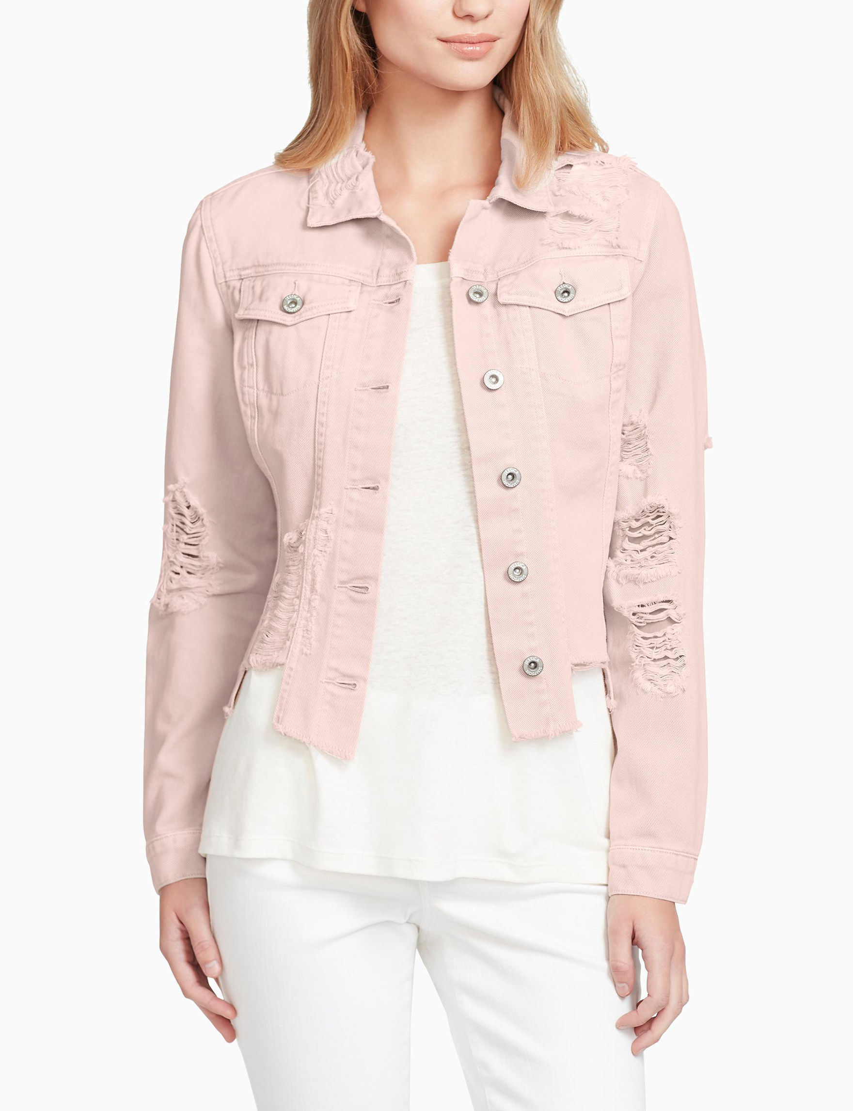 Jessica Simpson Light Pink Denim Jackets
