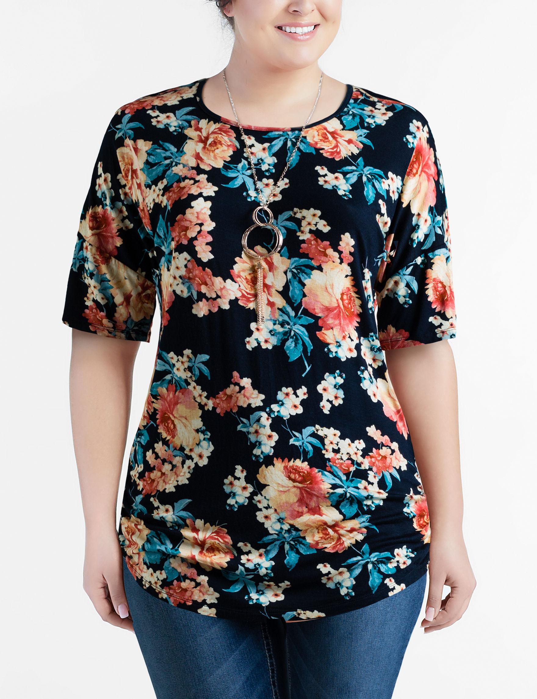 Liberty Love Navy Floral Shirts & Blouses
