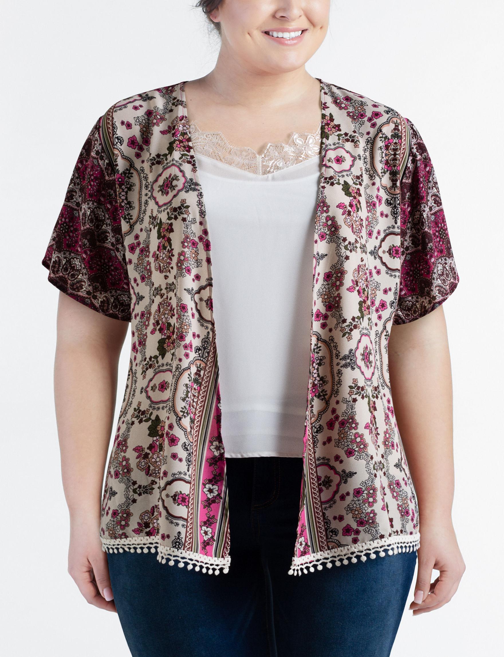 Self Esteem Ivory Multi Shirts & Blouses