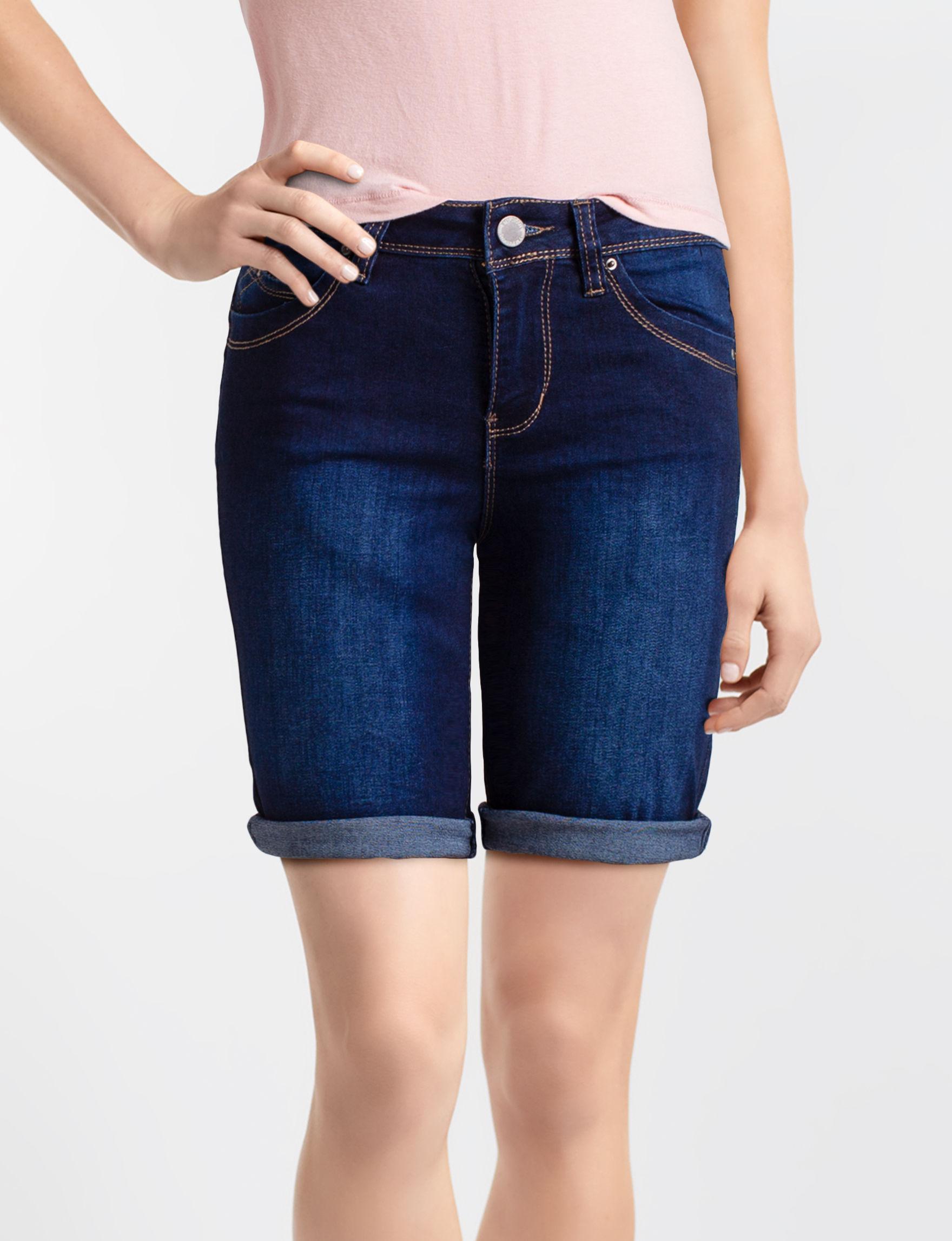 YMI Dark Wash Denim Shorts