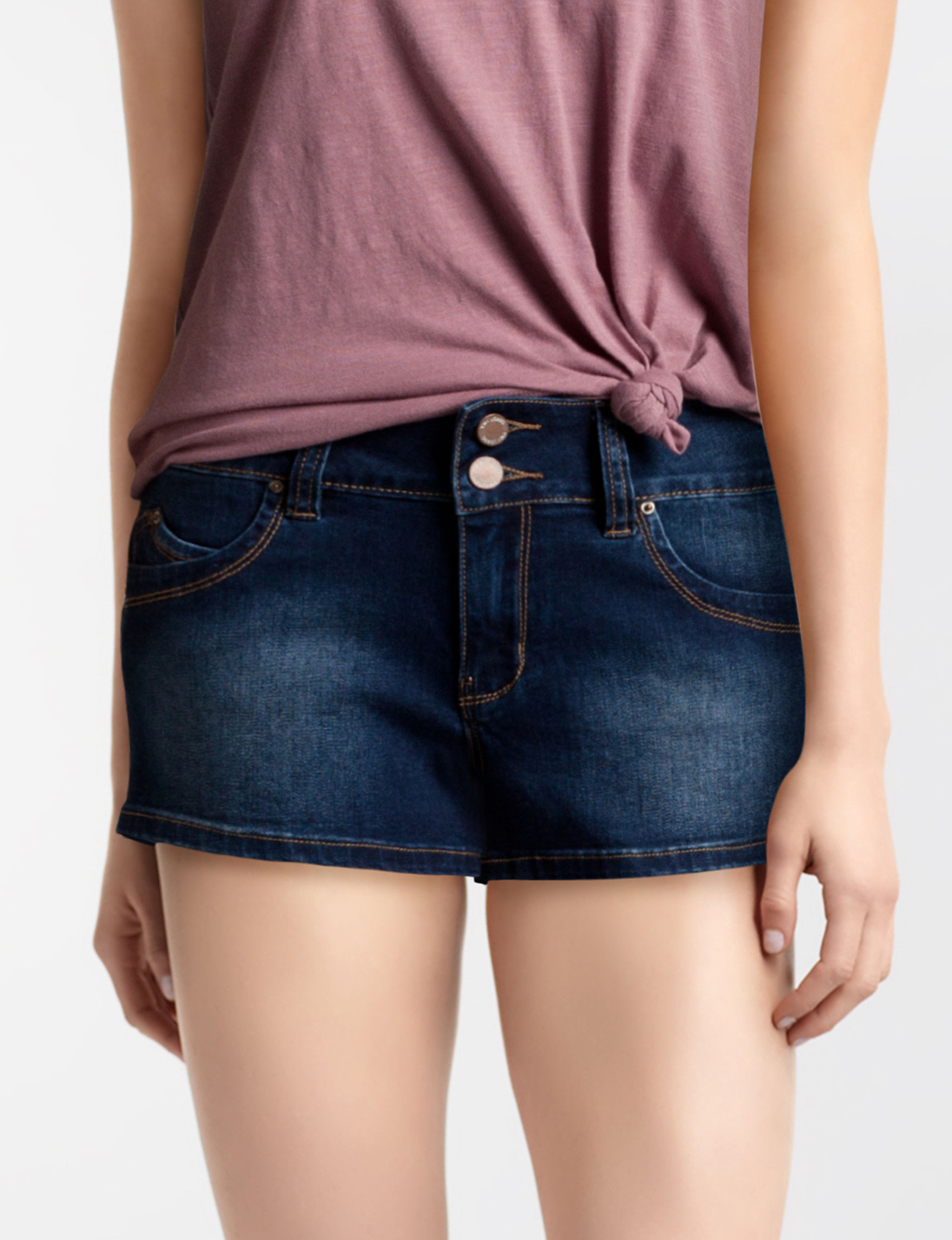 YMI Dark Wash Denim Shorts