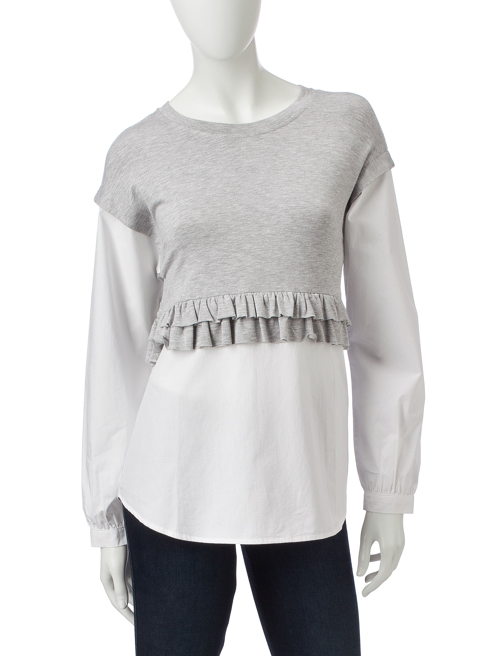 Kensie Heather Grey Shirts & Blouses