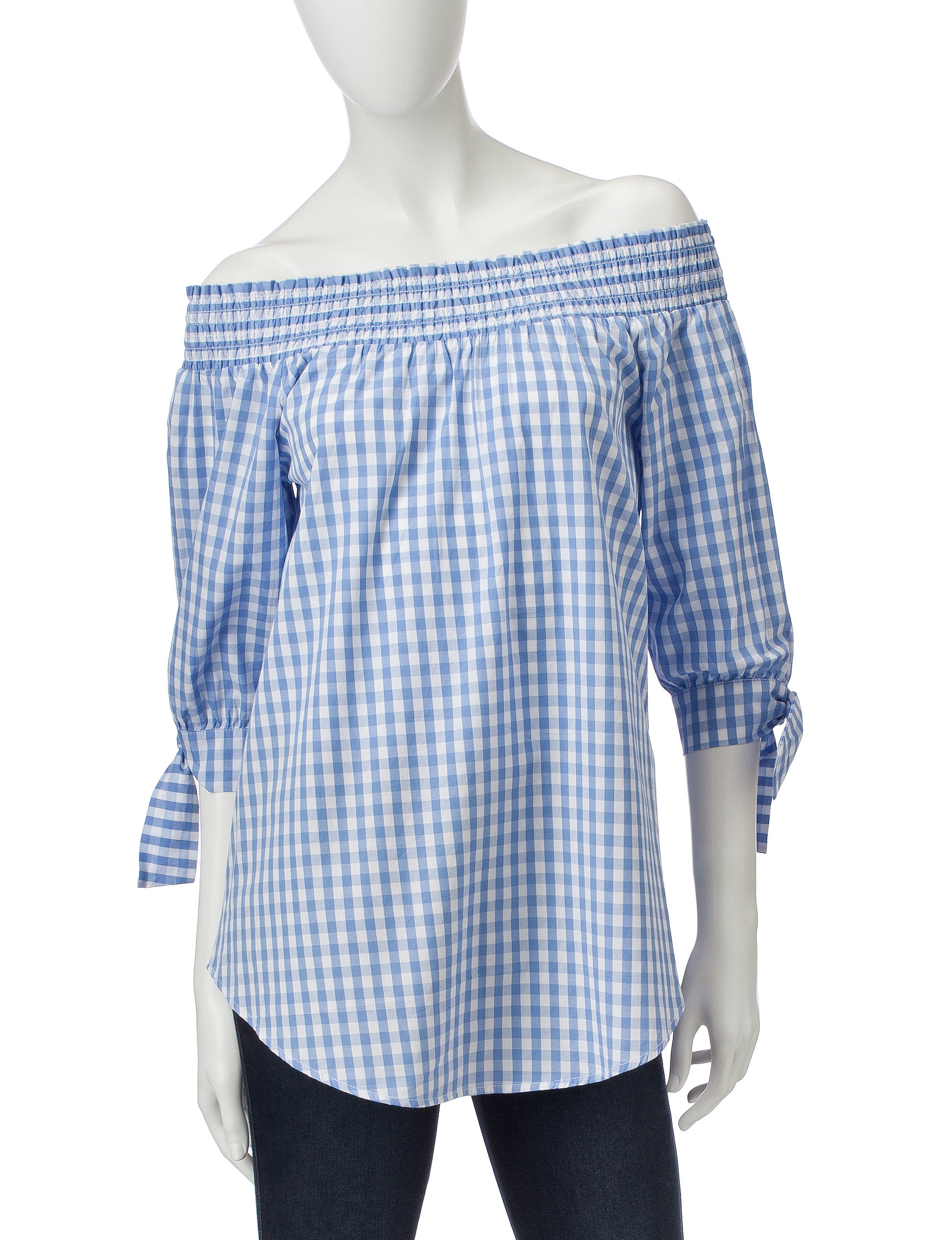 Signature Studio Blue / White Shirts & Blouses