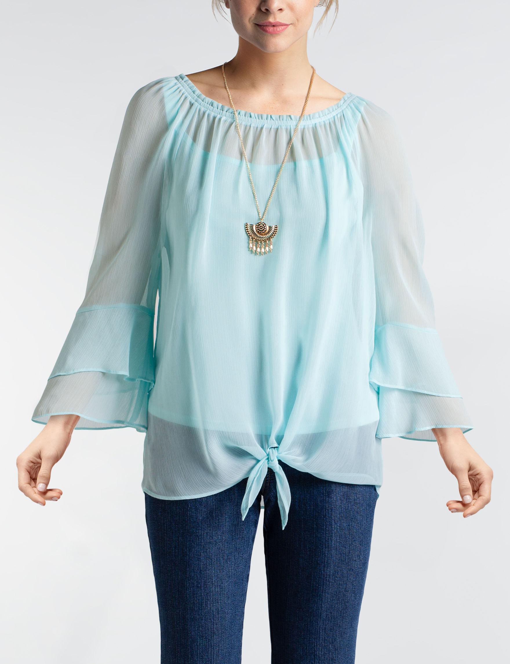 A. Byer Aqua Shirts & Blouses