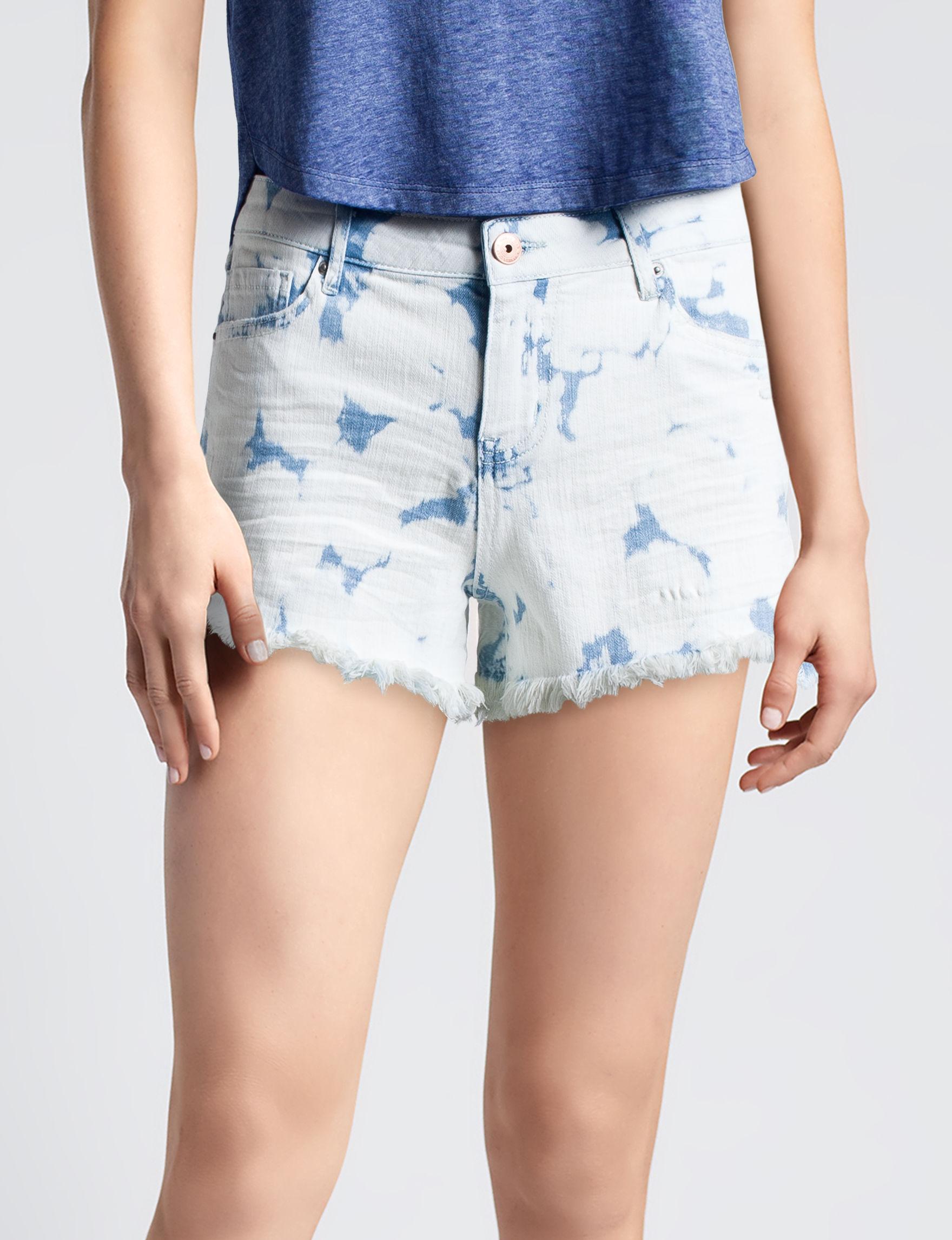Vanilla Star Tie Dye Denim Shorts